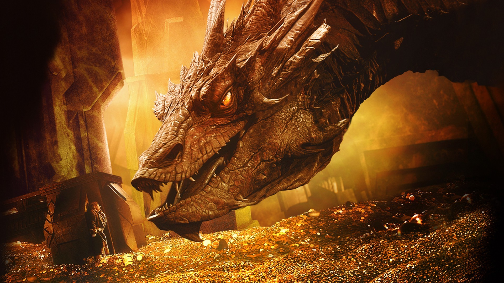 Gold Dragon In Lord Of The Rings