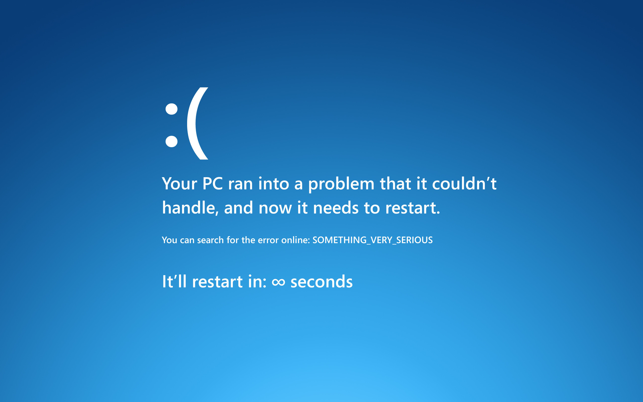 2560x1600 The Windows Blue Screen of Death Makes a Hilarious iPad Lock Screen