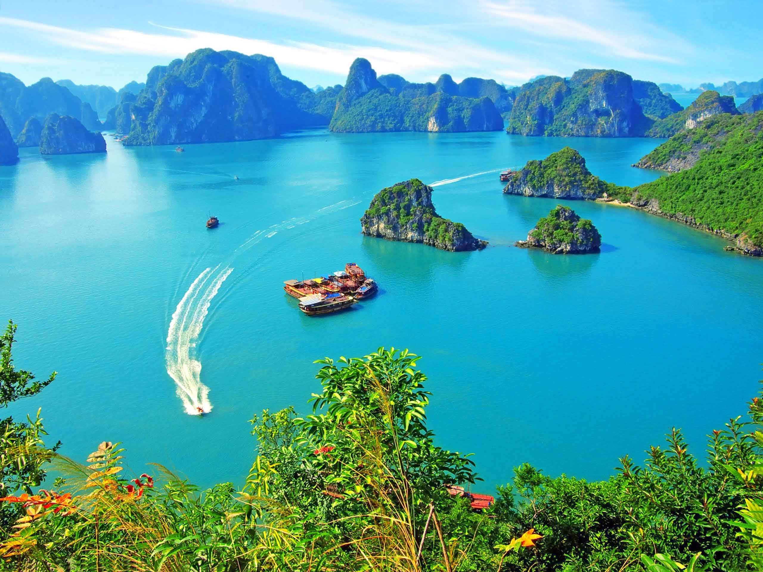 2560x1920 Sea Ocean Halong Boat Vietnam Island Bay Tropical Nature HD Wallpapers For  Android Phones