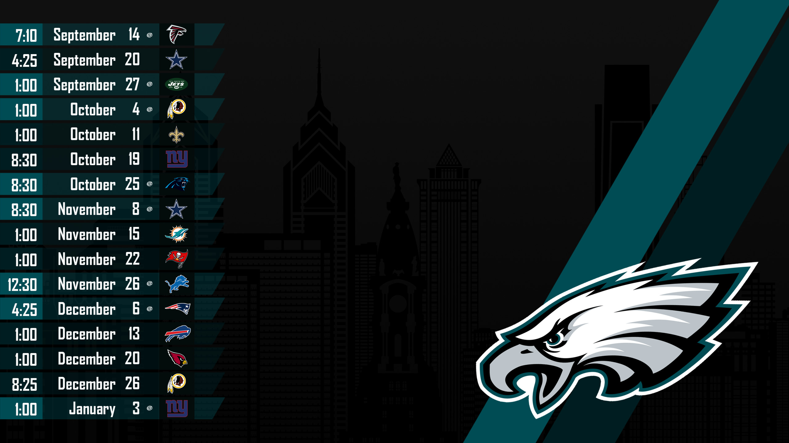 2560x1440 Philadelphia Eagles Wallpapers Full HD | Wallpaper4PC