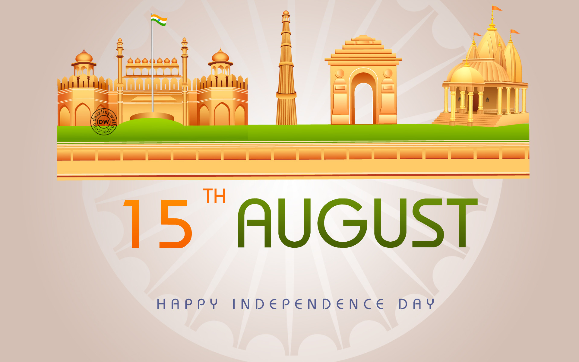 1920x1200 Independence Day Greetings card