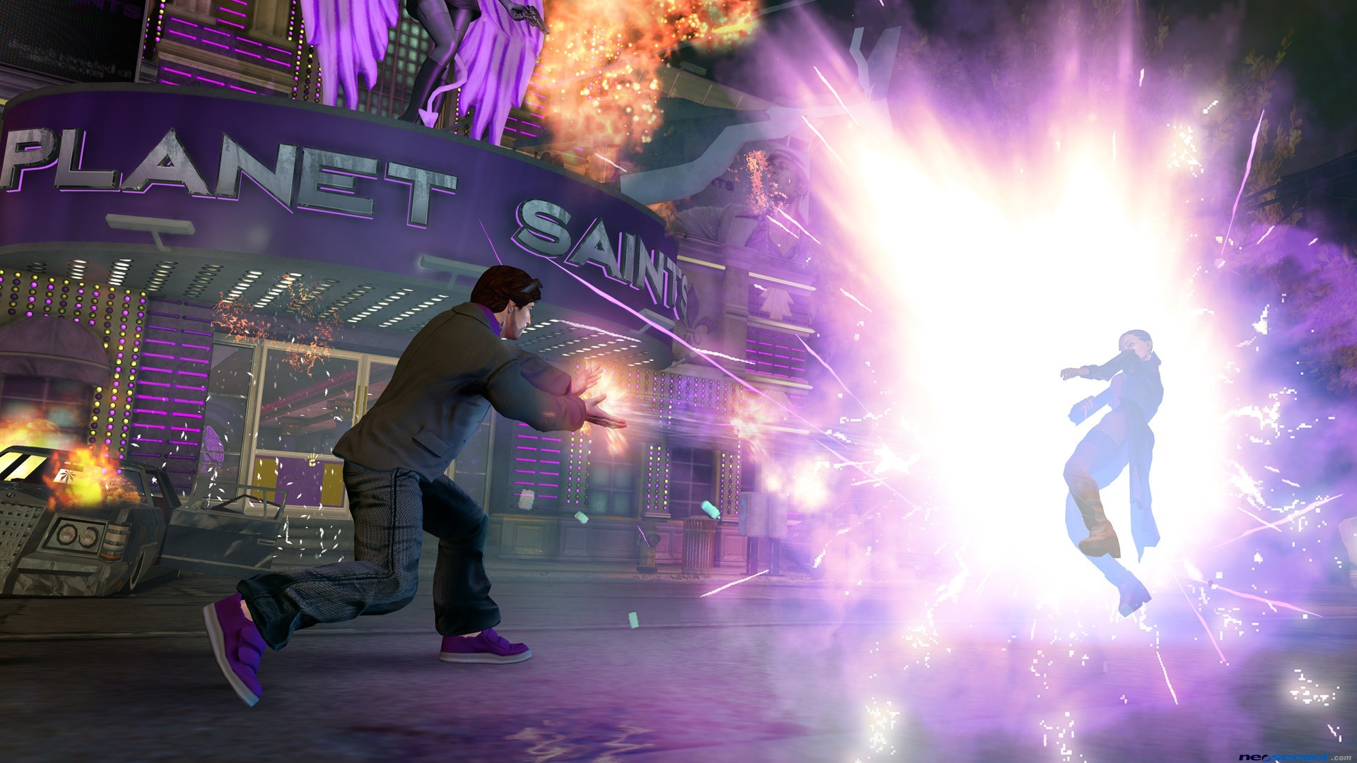 1920x1080 Saints Row 4 Weapons HD Desktop Wallpaper