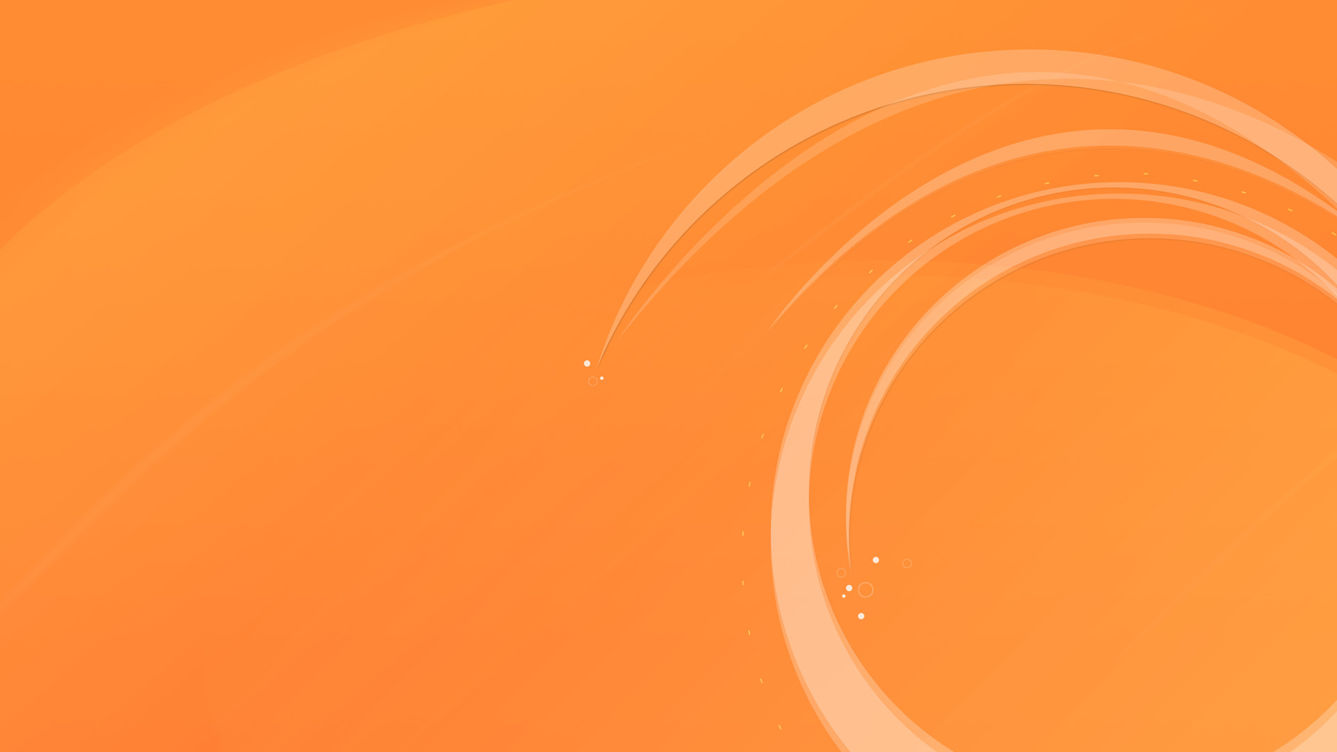 1920x1080 Circular Orange Wallpaper - HD Wallpapers