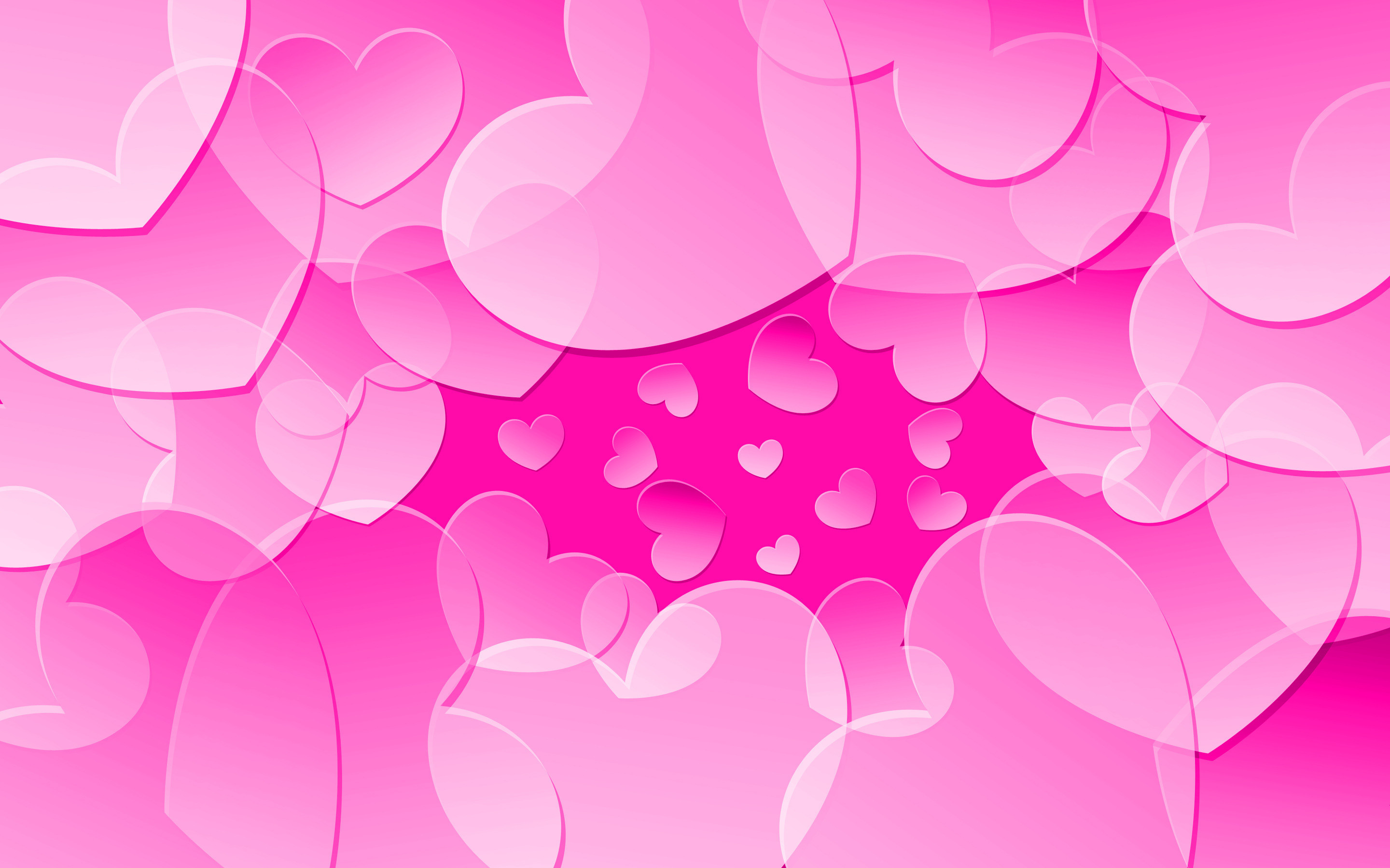 2880x1800 Pink Hearts Wallpaper 9181