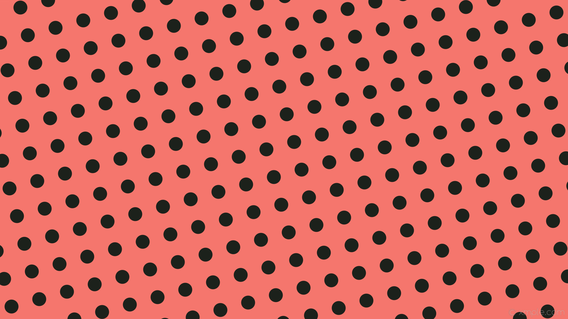 1920x1080 wallpaper spots lime dots red polka dark lime #f4766c #1d211b 105° 47px 97px