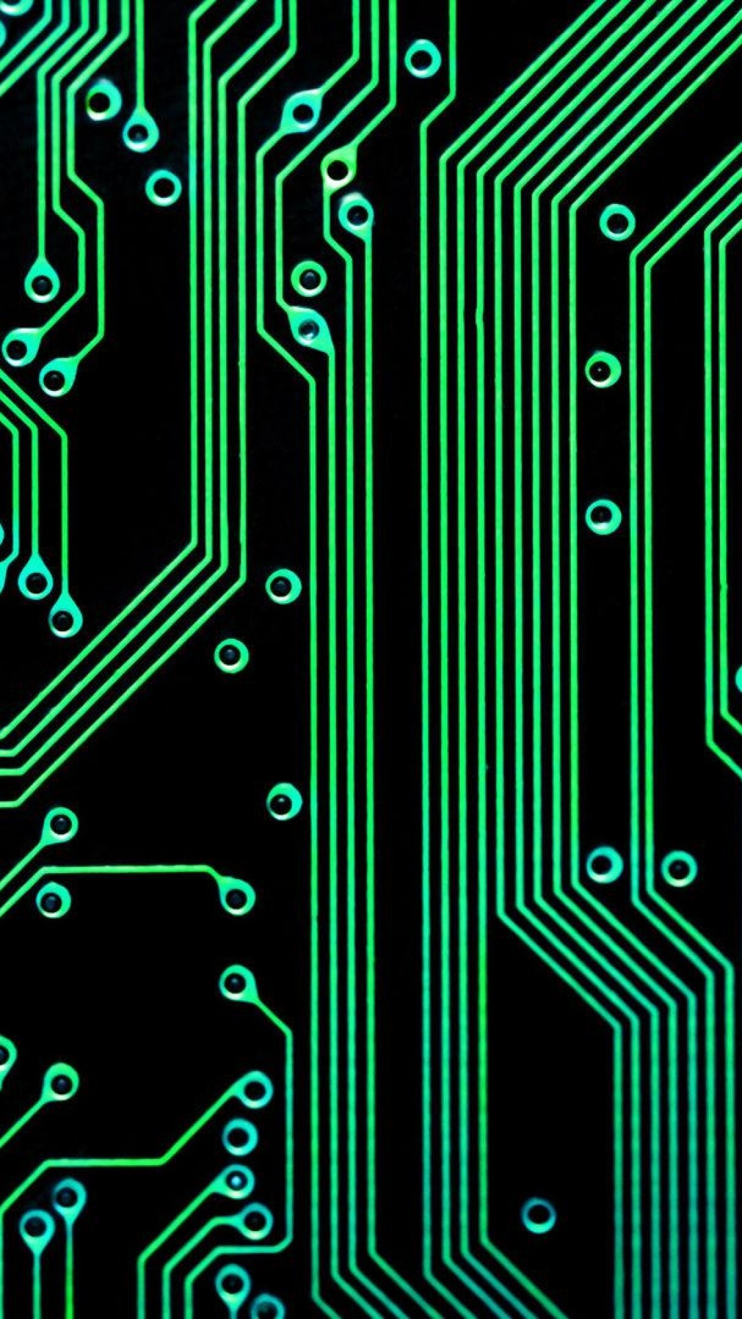 1080x1920 Electronic Circuit Green Black Android Wallpaper ...