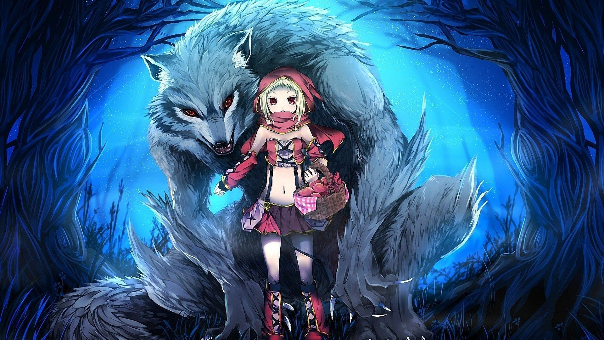 "1920x1080 1297x721 Girl With Wolf Wallpaper | Mega Wallpapers"">"