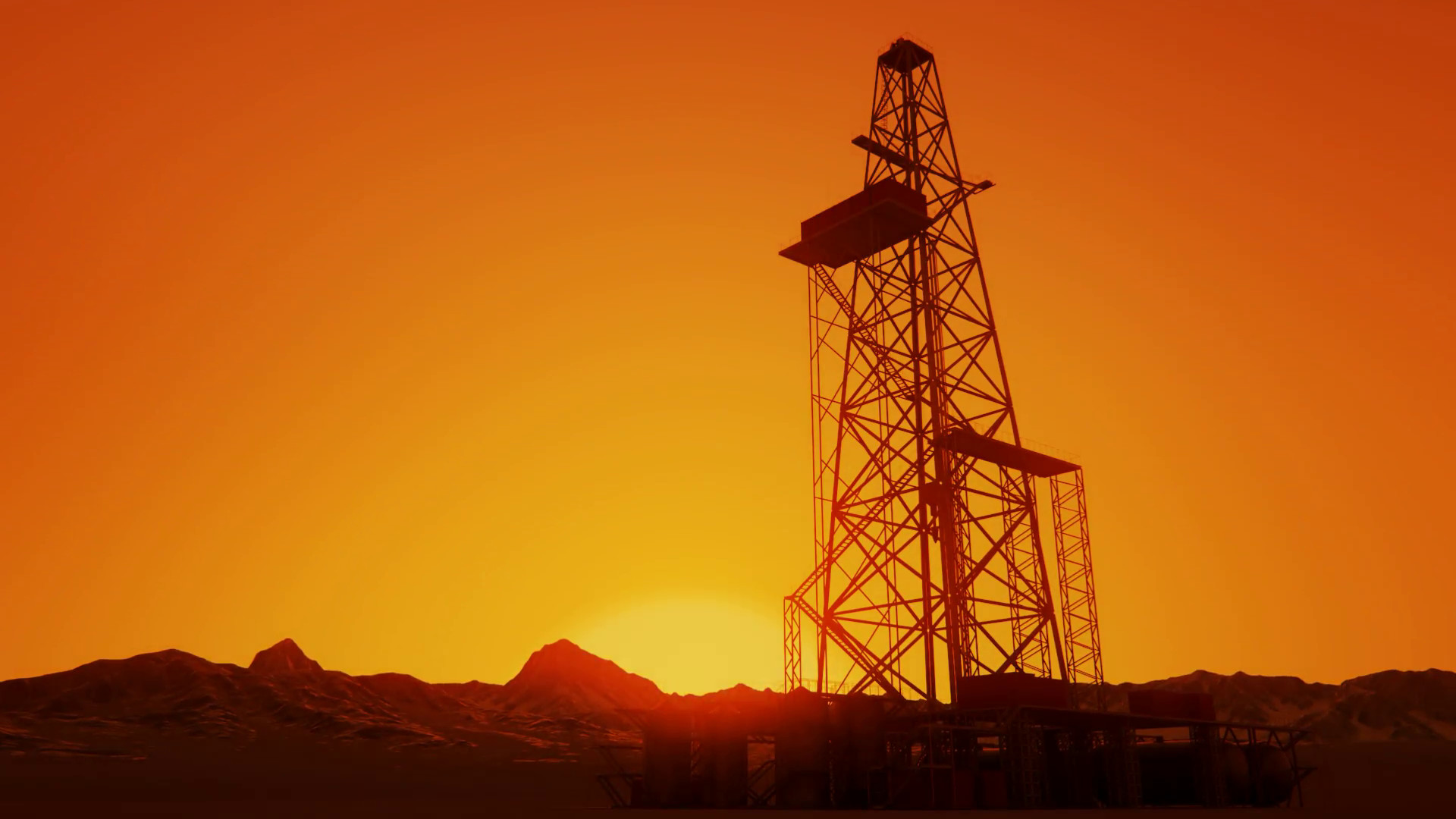 1920x1080 Drill Tower At Sunrise. Oil Rig Industry Drilling Derrick Stock Video  Footage - VideoBlocks
