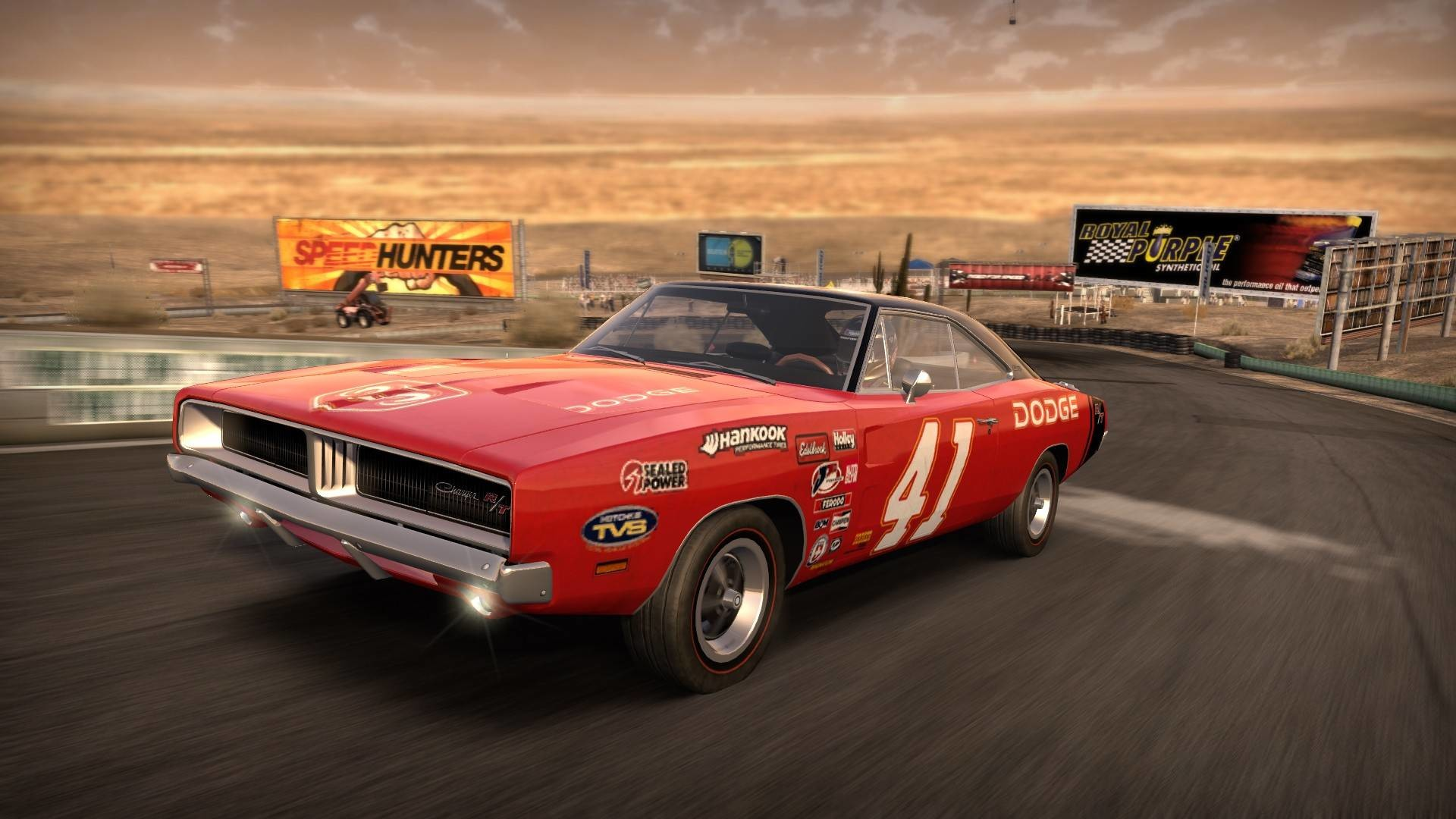 1920x1080 1969 Dodge Charger R/T racing game graphic.