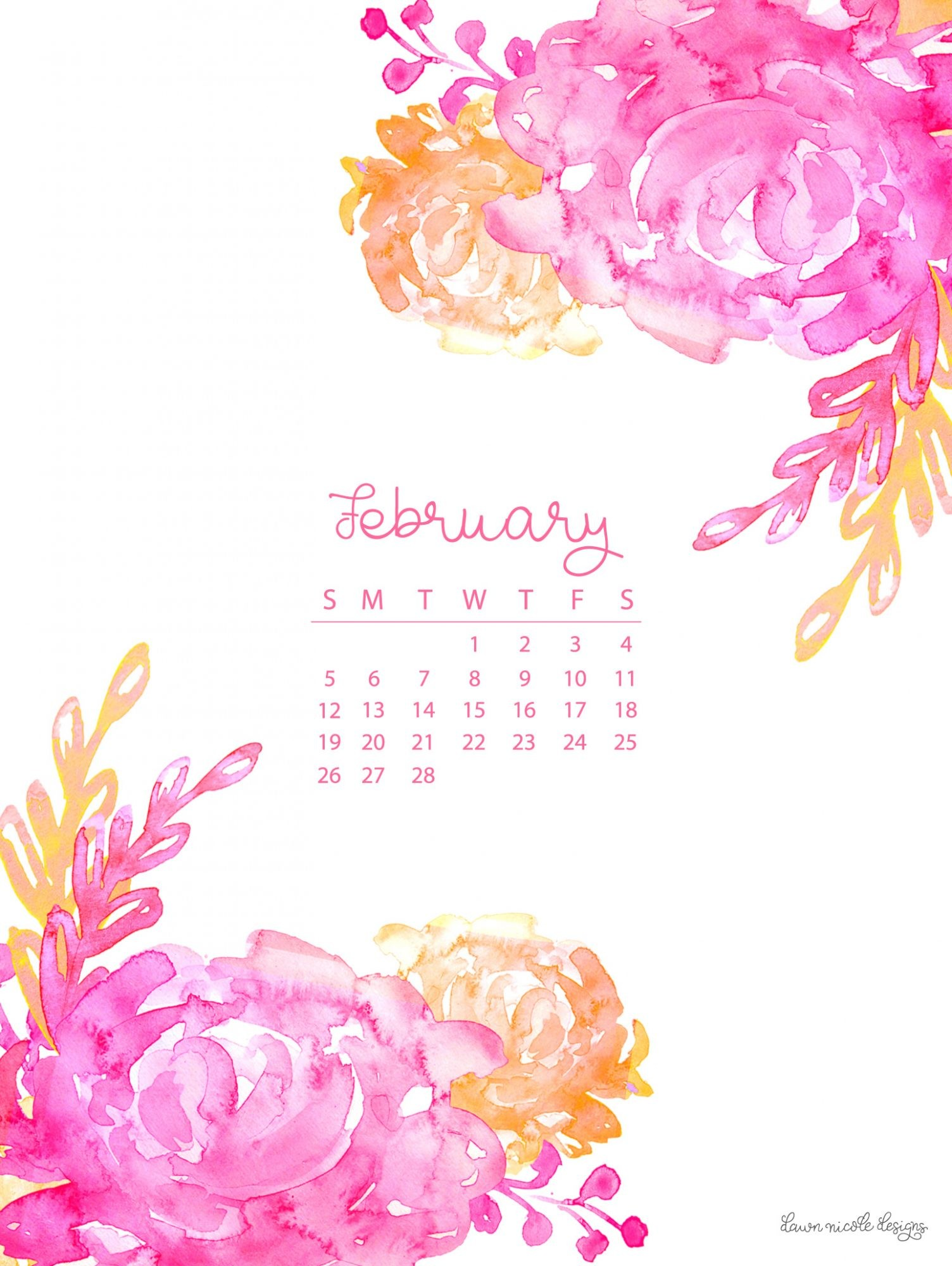 Desktop Calendar Wallpaper With Reminder : February wallpaper calendar images