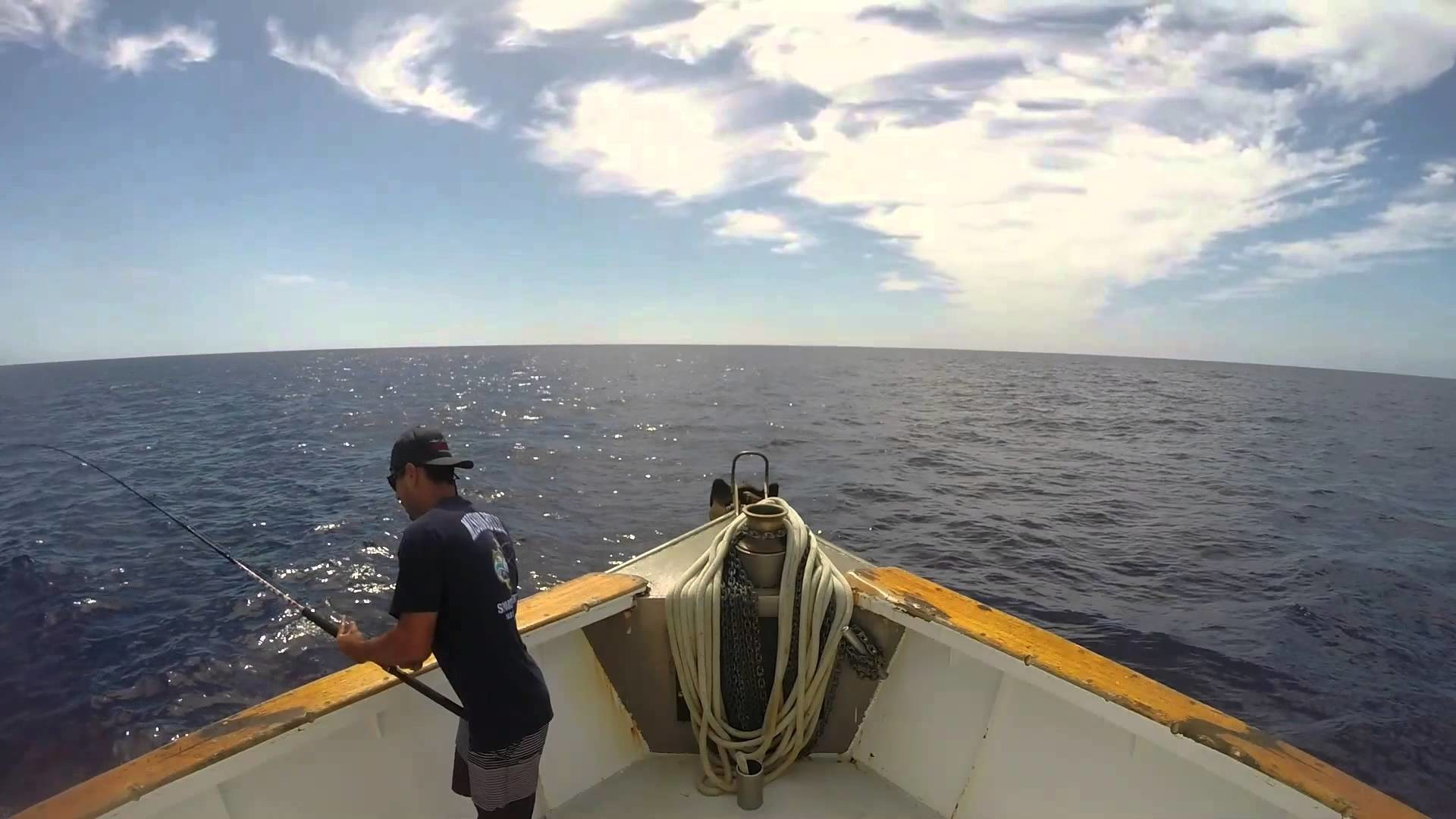 1920x1080 Wide Open WFO Offshore Fishing Yellowfin Tuna on the Popper - Mission Belle  10-1-15