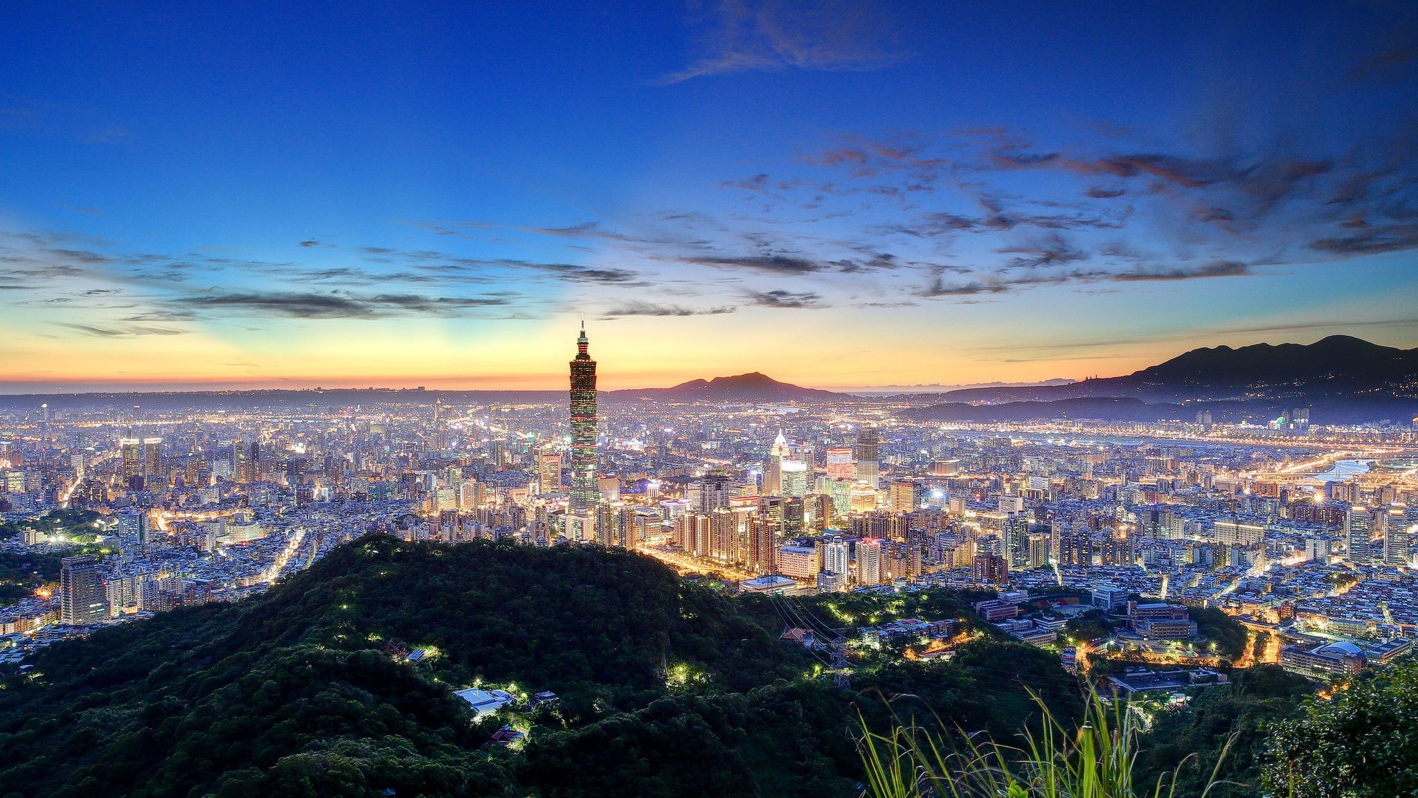 2048x1152 Taiwan, City, Skyline, High, Definition, Wallpaper, For, Desktop, Background,  Download, Photos, Free, Download Wallpaper, Hd Images, Cool Images, ...