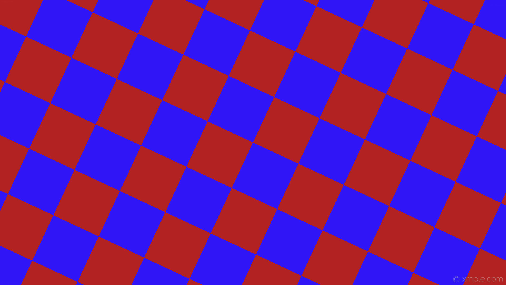 1920x1080 wallpaper red blue checkered squares fire brick #b22222 #3015f7 diagonal  65° 190px