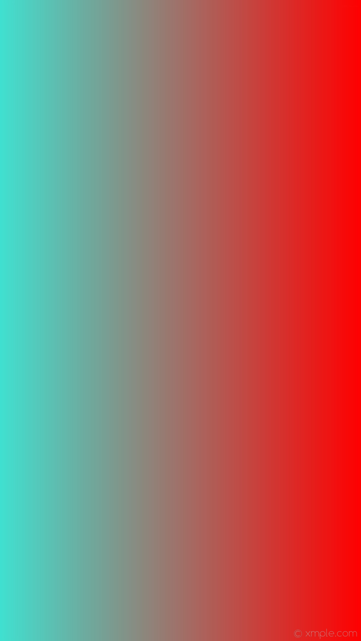 1152x2048 wallpaper gradient linear red blue turquoise #ff0000 #40e0d0 0°