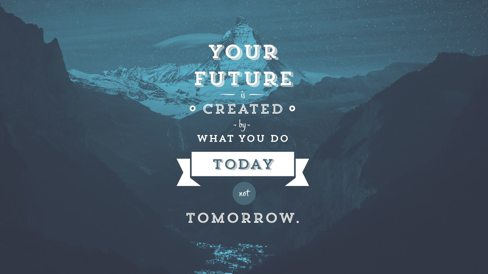 1920x1080 Your future is created by what you do today not tomorrow. Work hard dream  big.