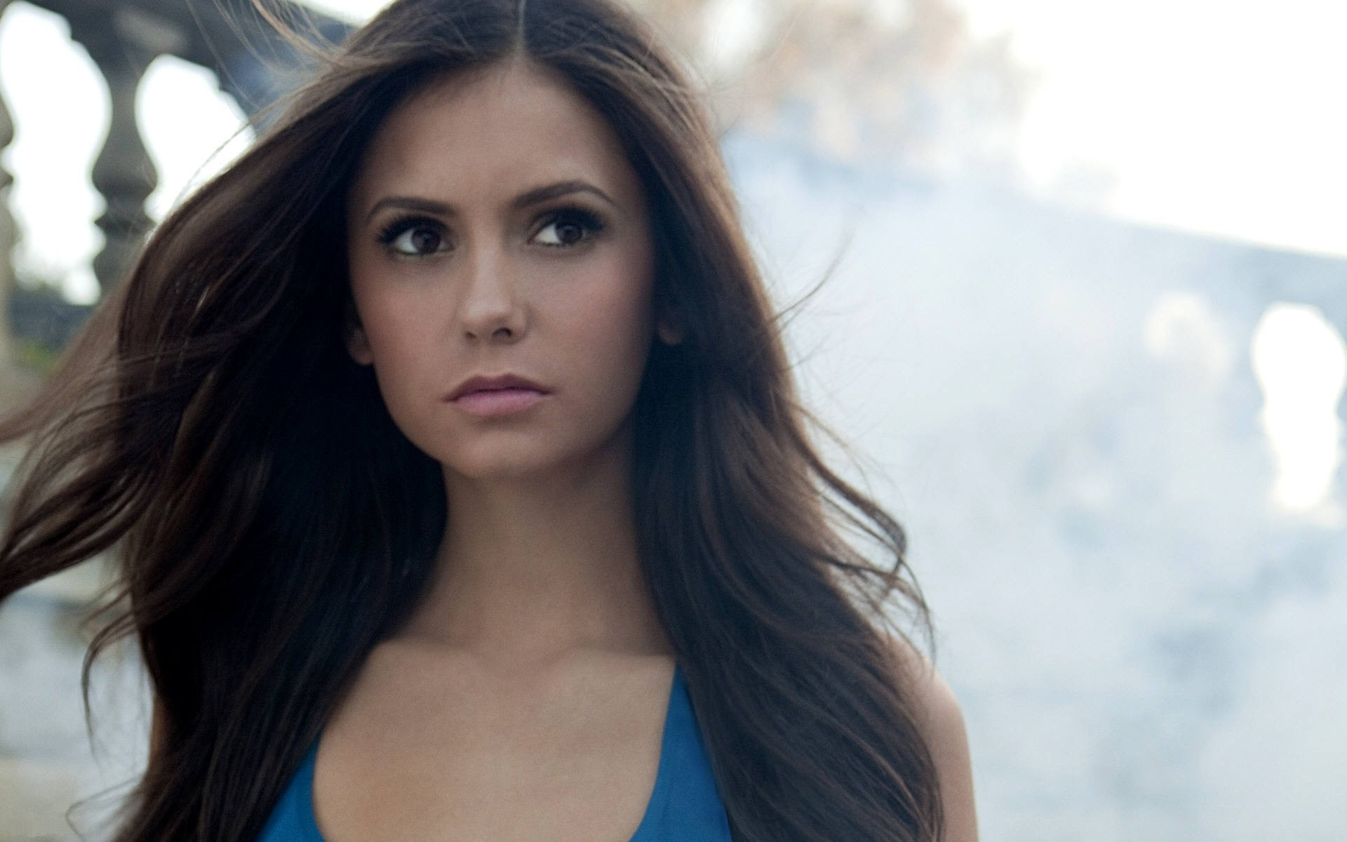 1920x1200 Nina Dobrev Flowing Hair wallpapers and stock photos