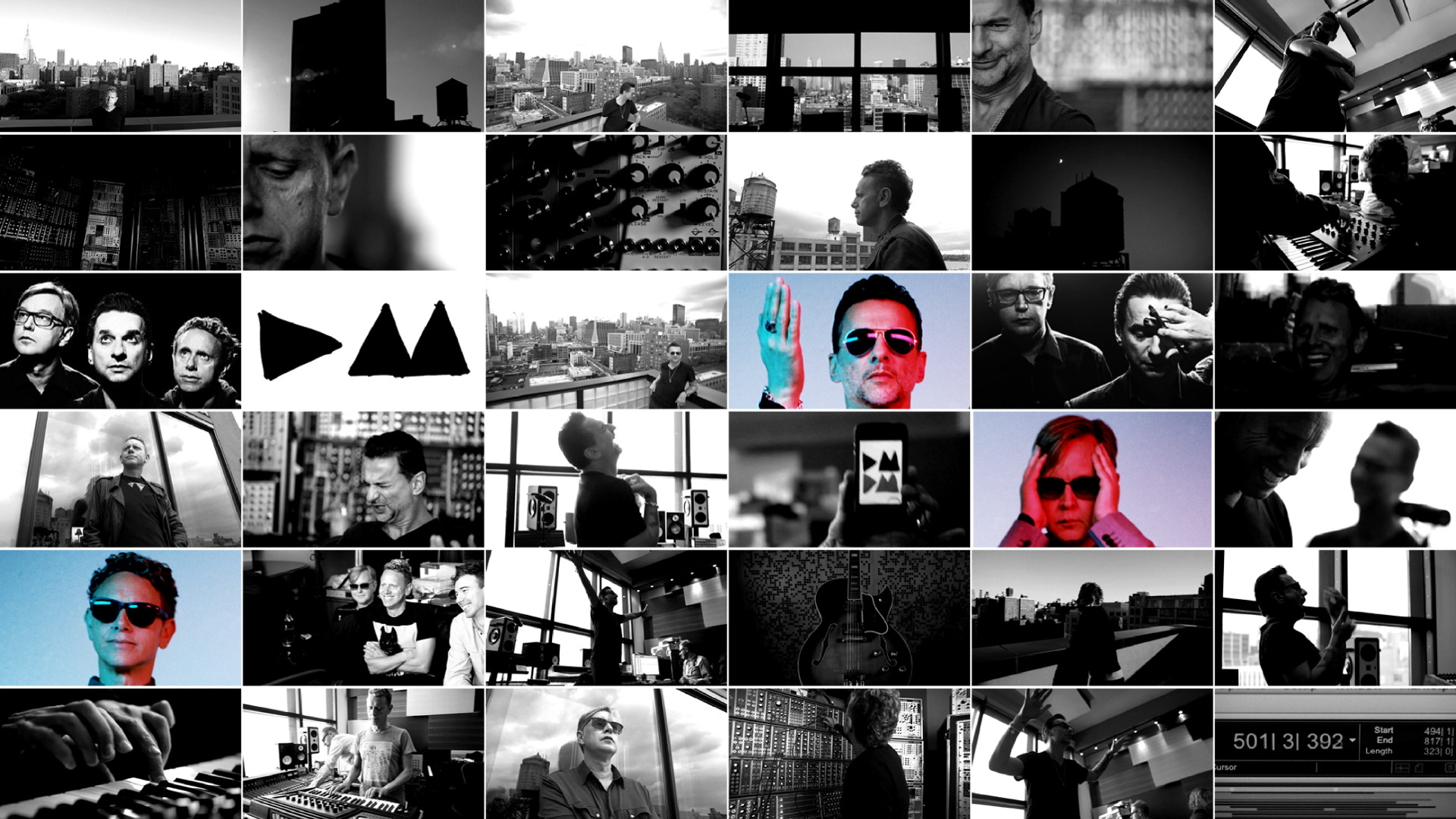 1920x1080 ... Depeche Mode : In-Studio Collage 2012 -11- by IDAlizes