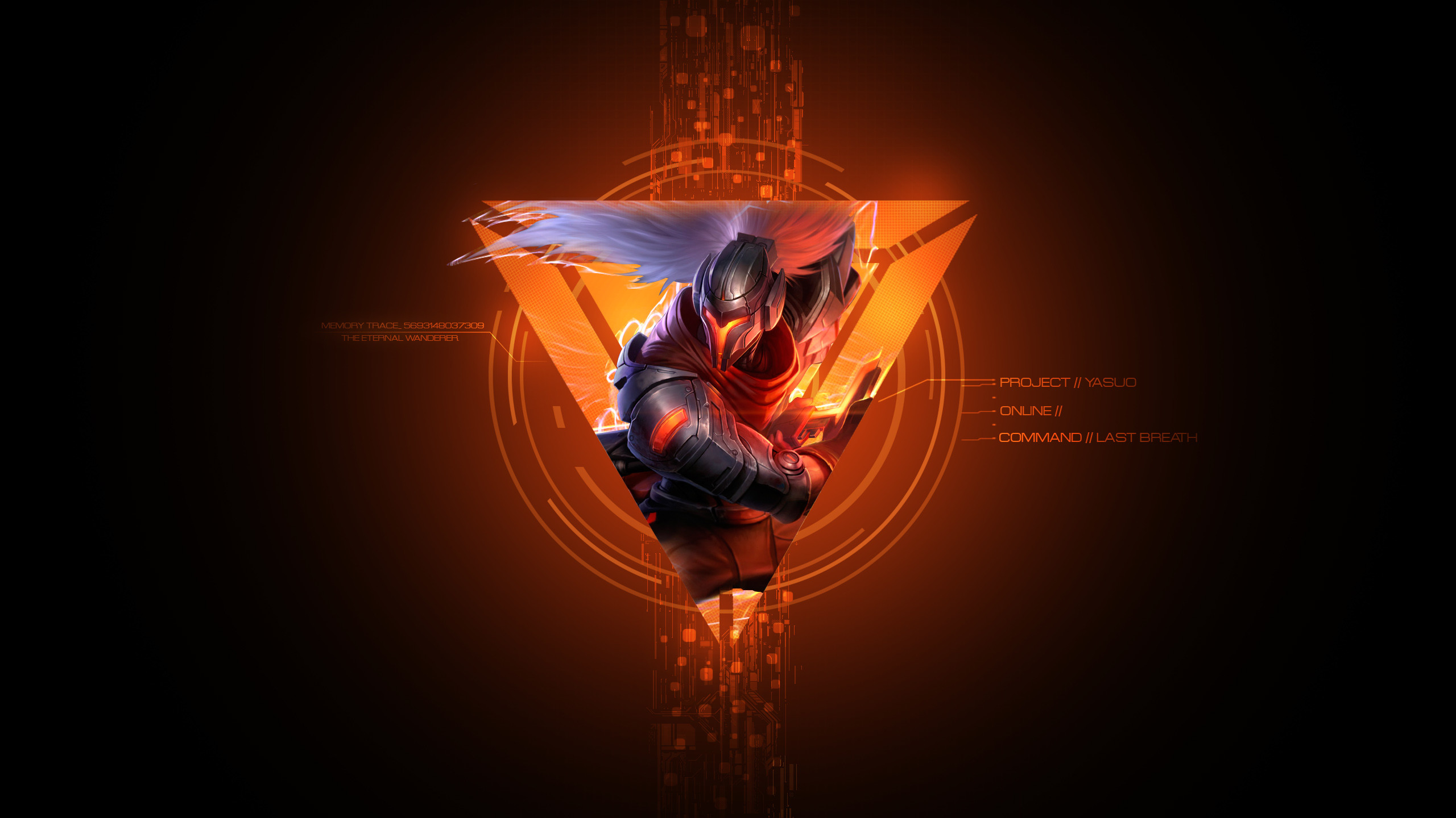 2560x1440 PROJECT Yasuo by syraelx HD Wallpaper Fan Art Artwork League of Legends lol