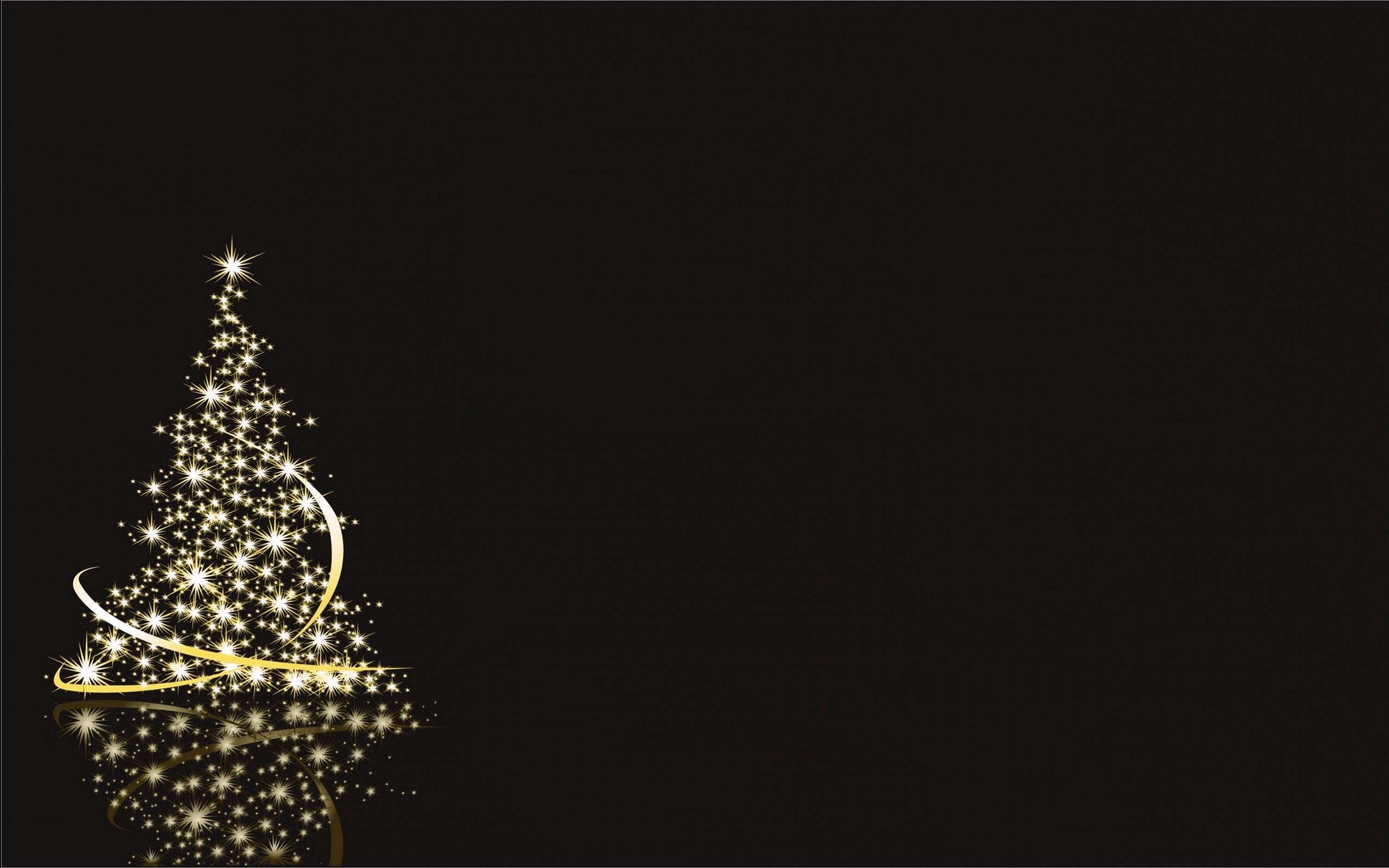 2560x1600 Happy Merry Christmas Tree HD Wallpaper