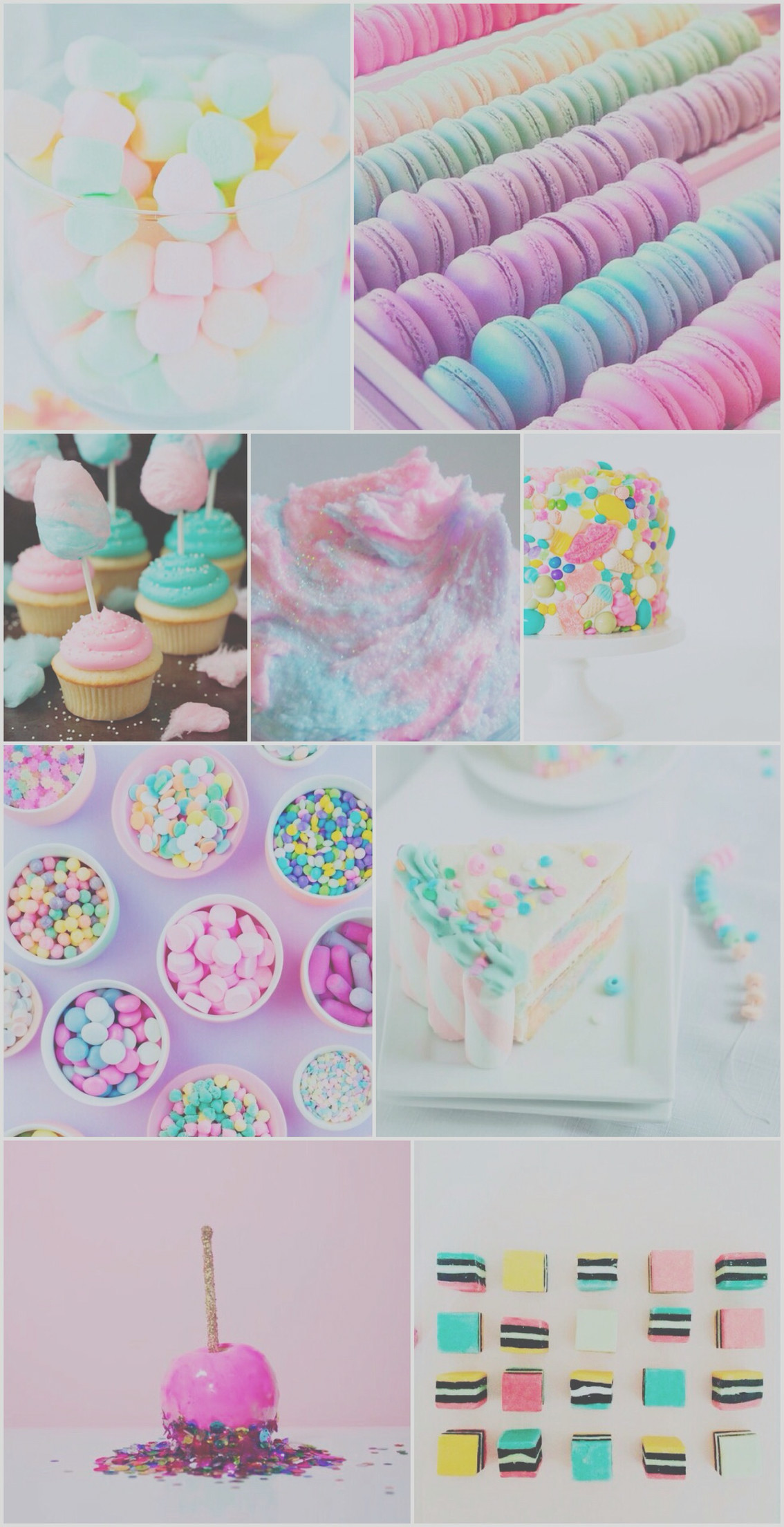 1134x2208 Sweet treats wallpaper, background, iPhone, android, cake, pretty, candy,