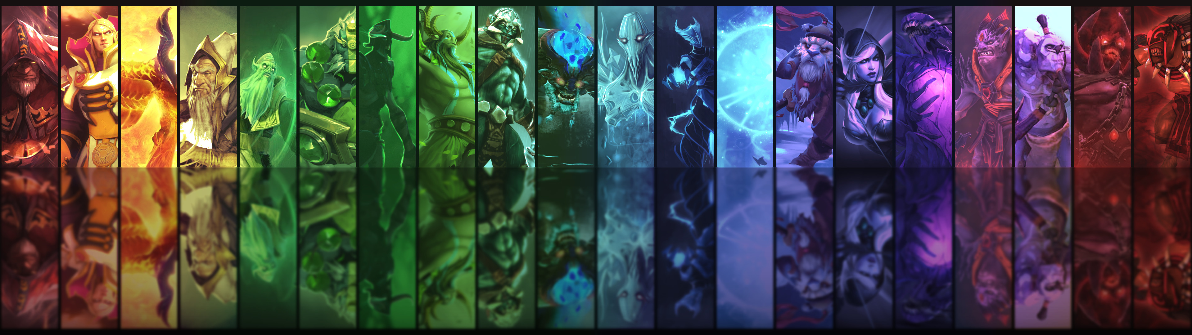 3840x1080 ... Dota2 Heroes Dual Monitor Background by 3i20d99e