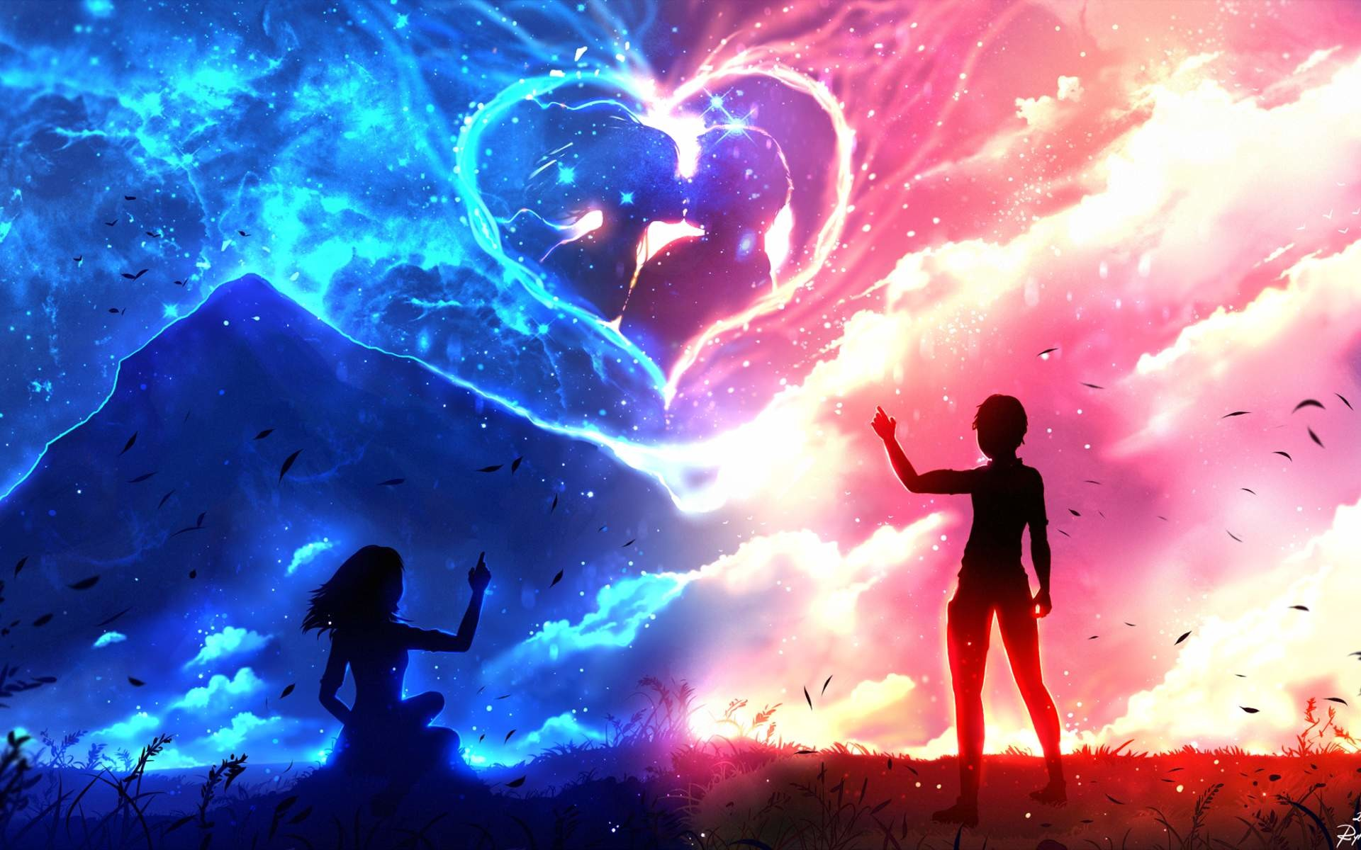 10 Top Cute Love Heart Wallpapers For Mobile Full Hd 1920: Anime Love Wallpaper (78+ Images