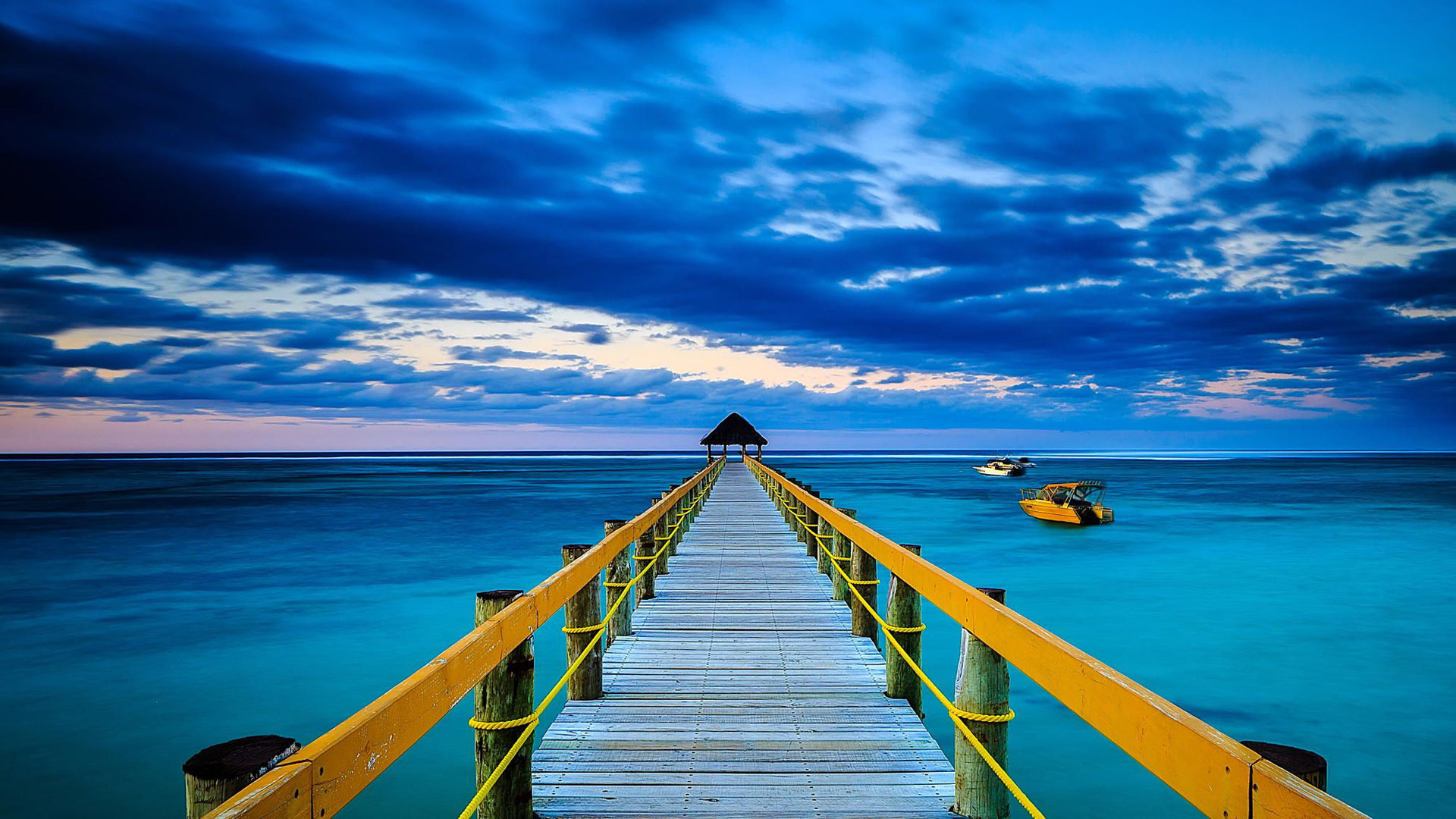 1920x1080 ocean wallpaper wooden bridge. Â«Â«