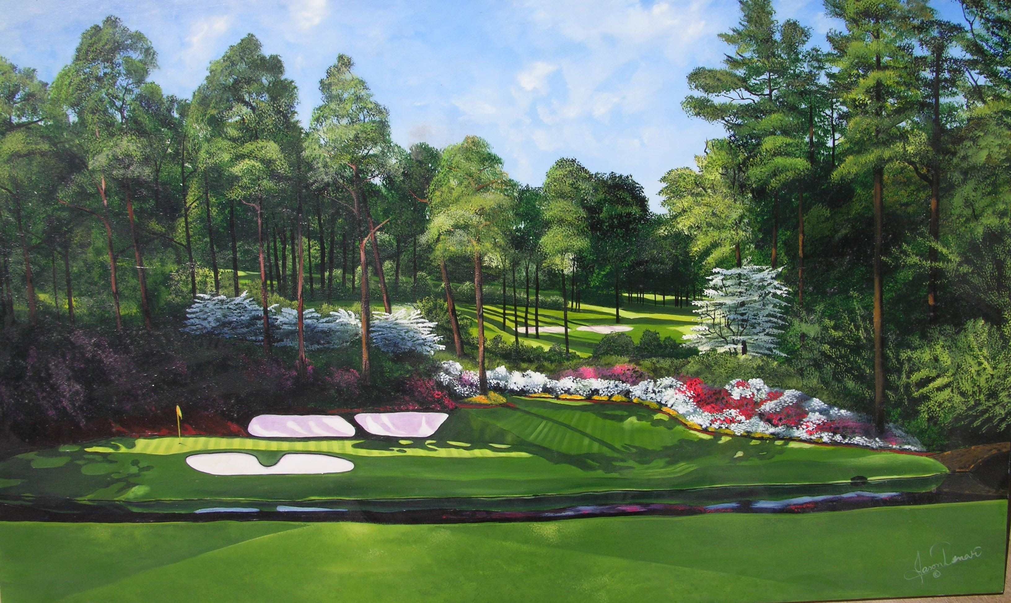 3264x1949 Pix For Augusta National Wallpaper Amen Corner