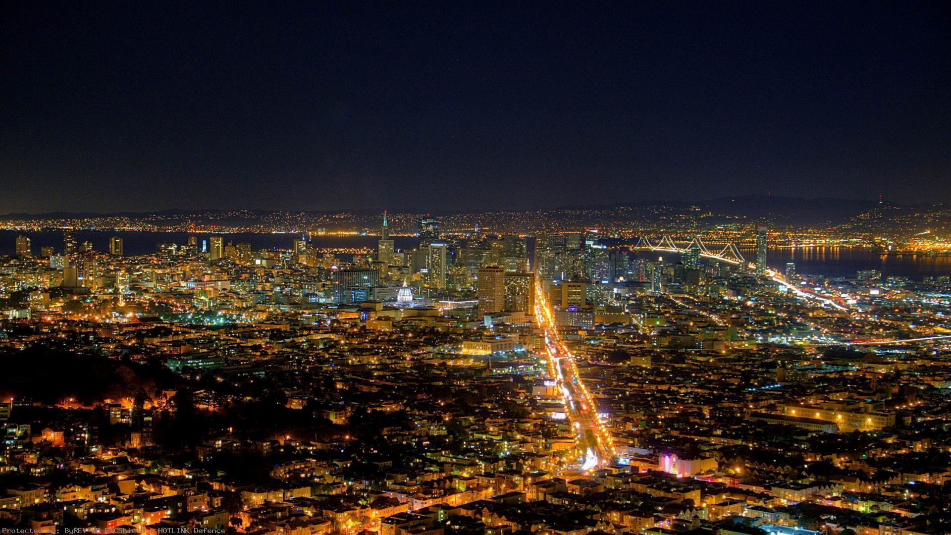 1920x1080 Twin-Peaks-San-Francisco-Night-California--wallpaper-