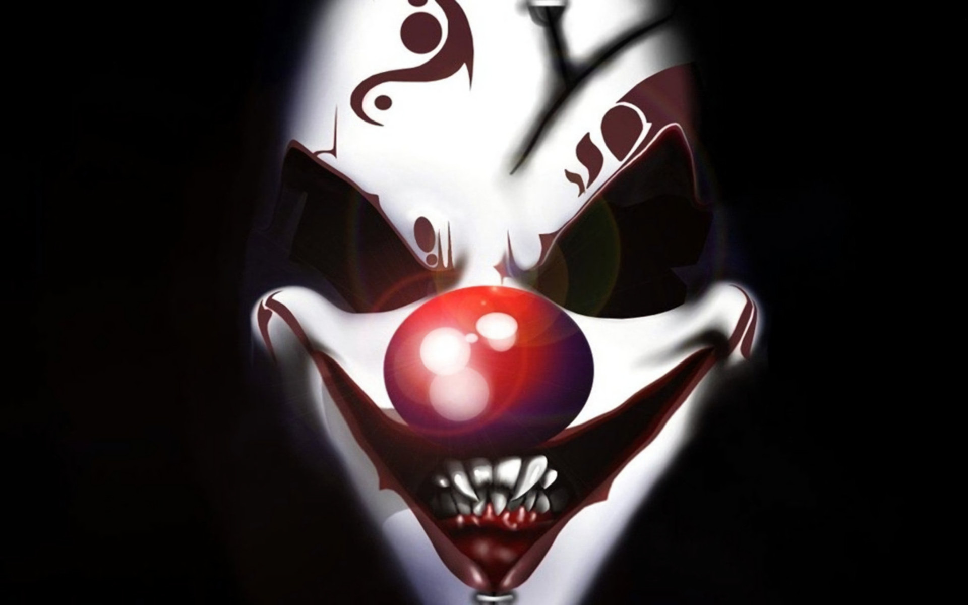 1920x1200 Dark - Clown Holiday Halloween Scary Face Wallpaper