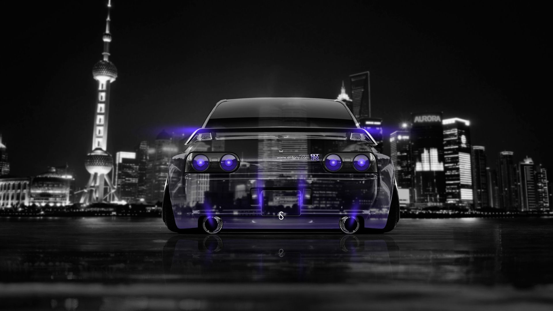 Superieur 1920x1080 Nissan Skyline GTR R32 JDM Back Crystal City Car 2014 Â« El Tony