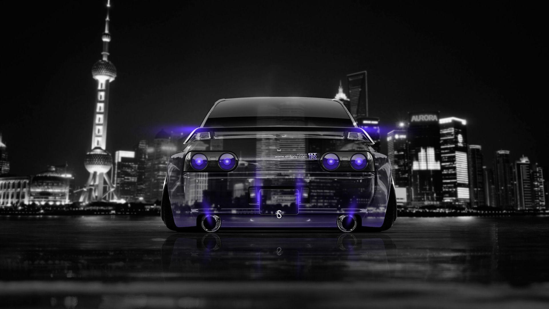 Attirant 1920x1080 Nissan Skyline GTR R32 JDM Back Crystal City Car 2014 Â« El Tony