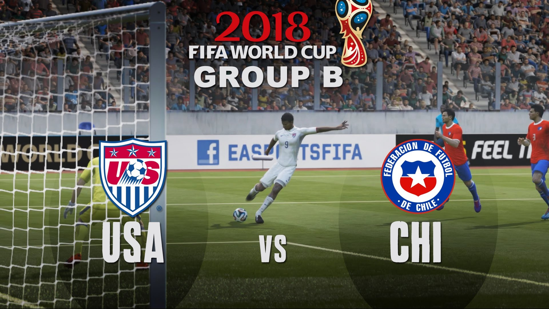 1920x1080 World Cup 2018 - USA vs Chile - Group B Match #3 - FIFA Gameplay - YouTube