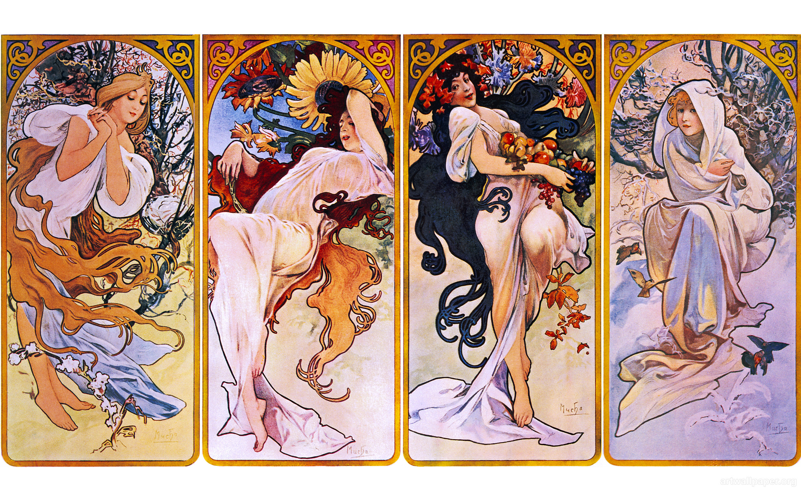 2560x1600 Alphonse Mucha Wallpaper, Art 2