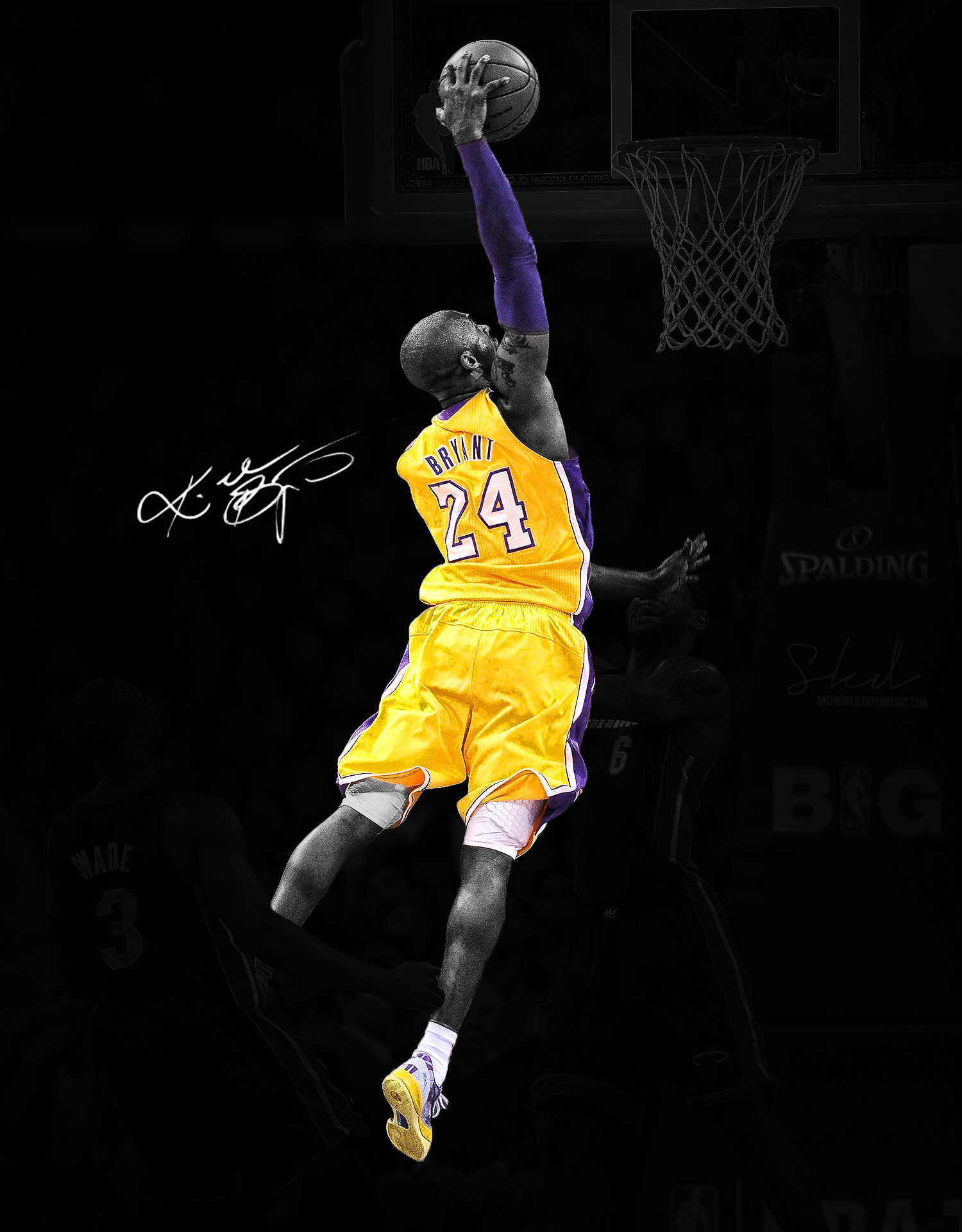 1500x1920 Kobe Bryant Dunk On Lebron James Wallpapers Hd Resolution