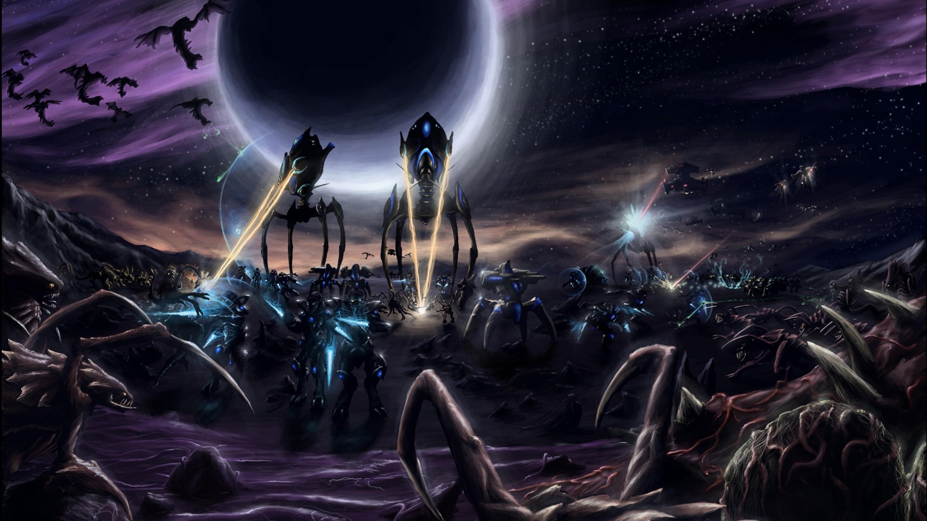 4k ultra hd space wallpaper 32 images - Starcraft 2 wallpaper art ...