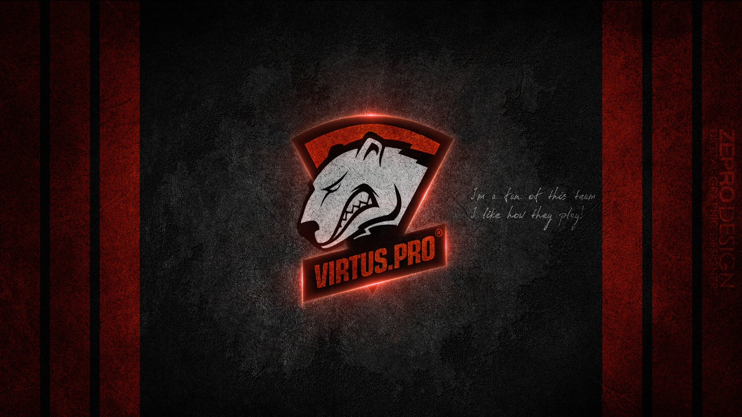 2560x1440 Wallpaper Logo Emblem virtus pro Games