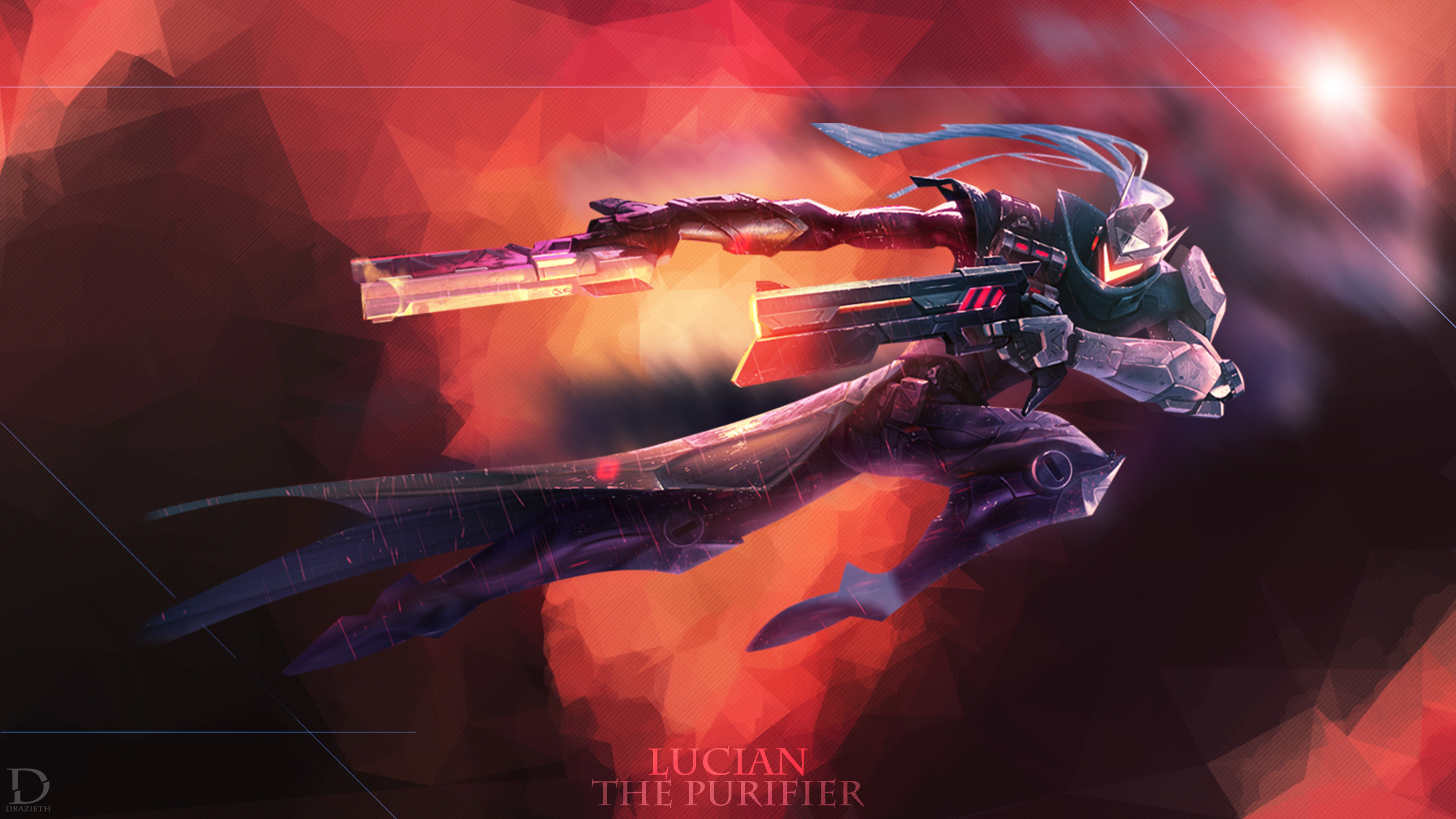 2560x1440 ... Project Lucian - League of Legends Wallpaper by Drazieth