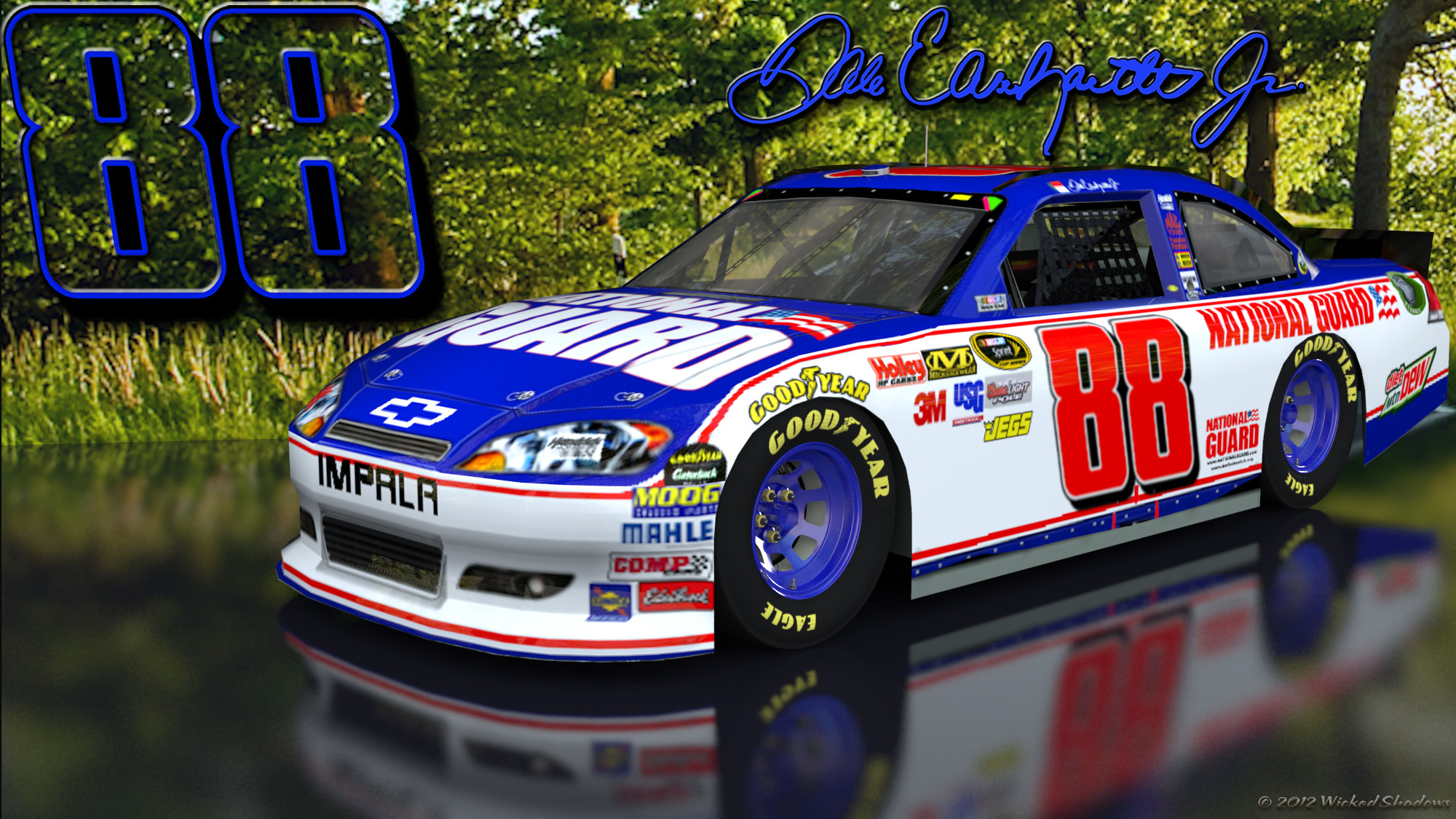 2000x1125 ... Alt Version | 16x10 | 16x10 Alt Dale Earnhardt Jr National Guard 1  Outdoors Wallpaper ...