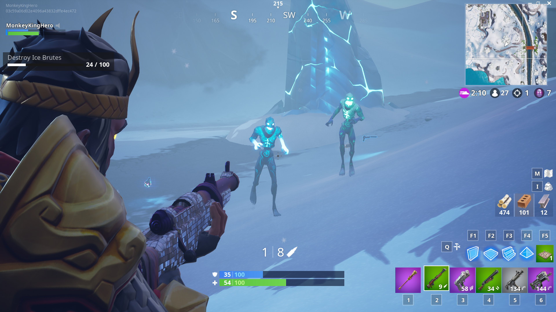 "1920x1080 How to complete the ""Destroy Ranged Ice Fiends"" Ice Storm Fortnite challenge"
