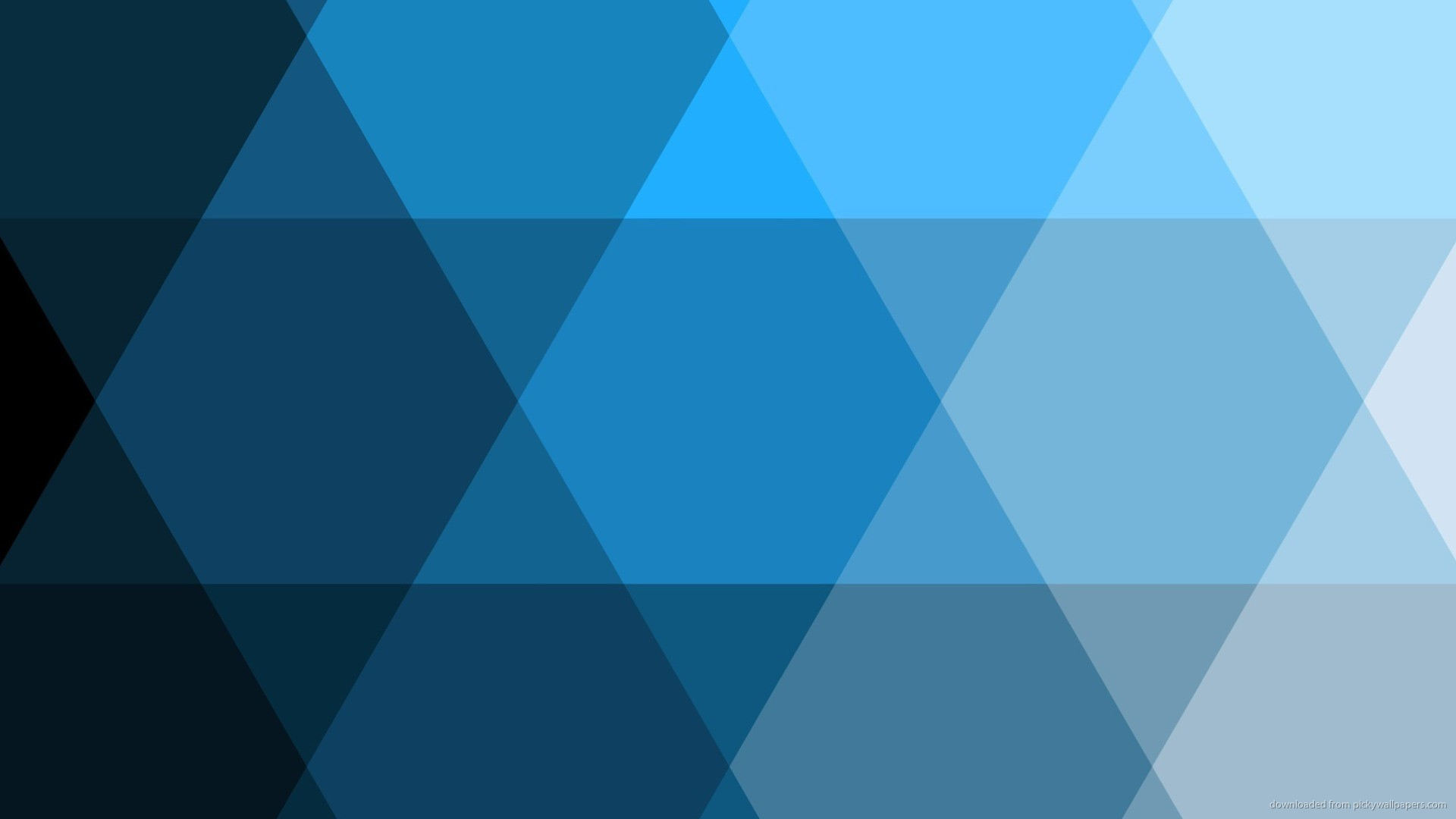 1920x1080 Blue trianglish pattern for