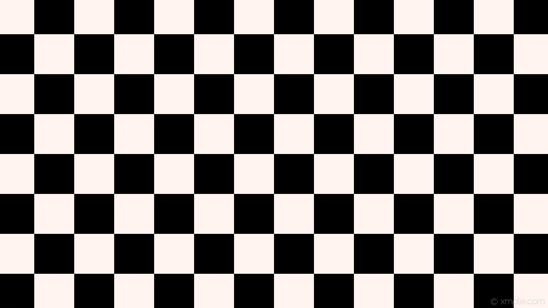 1920x1080 Wallpaper Black White Checkered Squares Seashell 000000 Fff5ee Diagonal 0a 140px