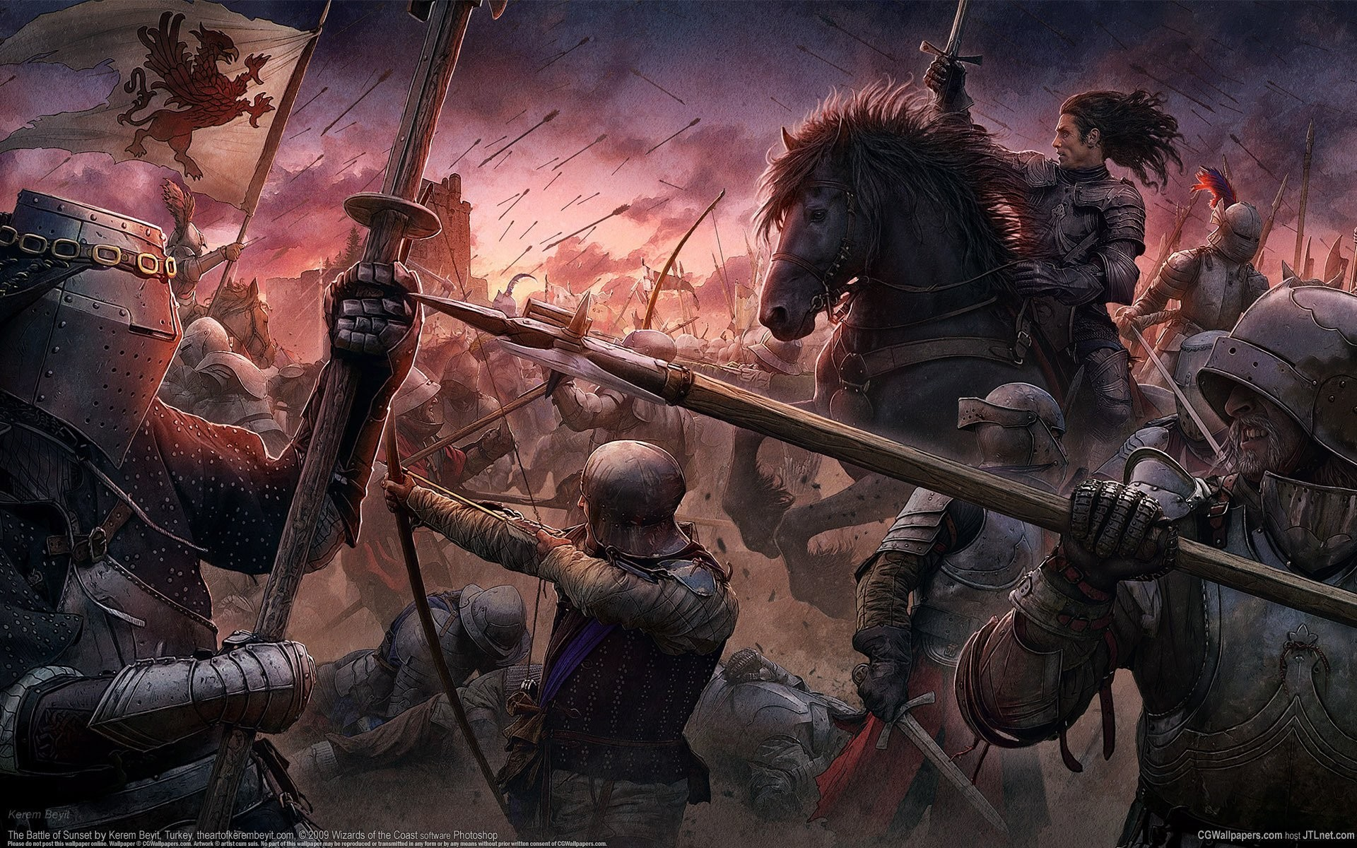 1920x1200 cg wallpapers kerem beyit the battle of sunset medieval style the middle  ages castle knights warriors