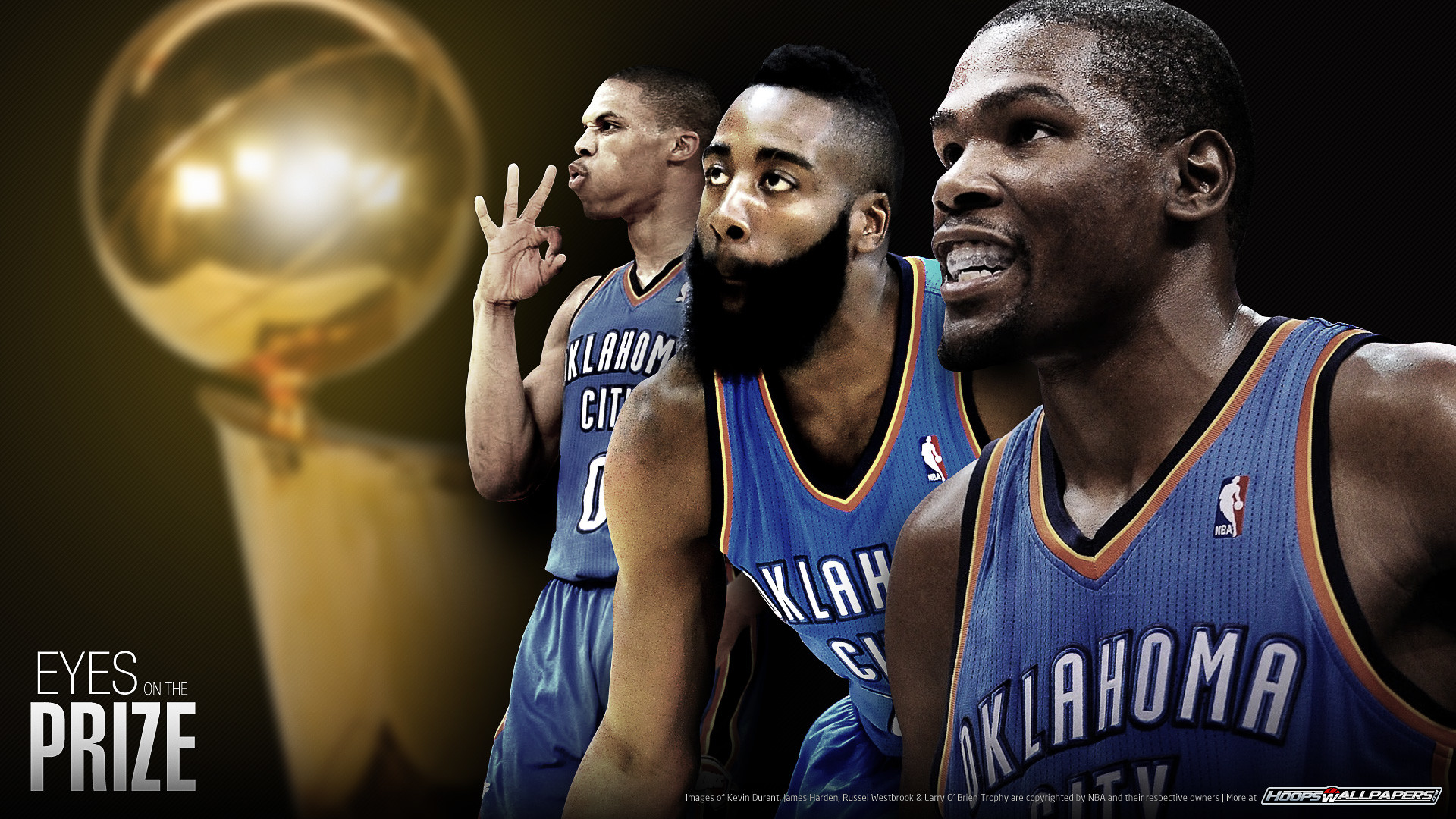 cheap for discount b6e75 92935 1920x1080 Oklahoma Thunder 2012 wallpaper. OKC Thunder (Kevin Durant, James  Harden and Russel