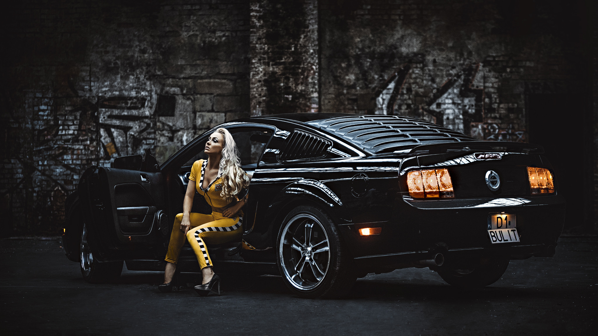 2048x1152 Ford mustang, ford, mustang, girl, blonde wallpapers (photos, pictures. ‹