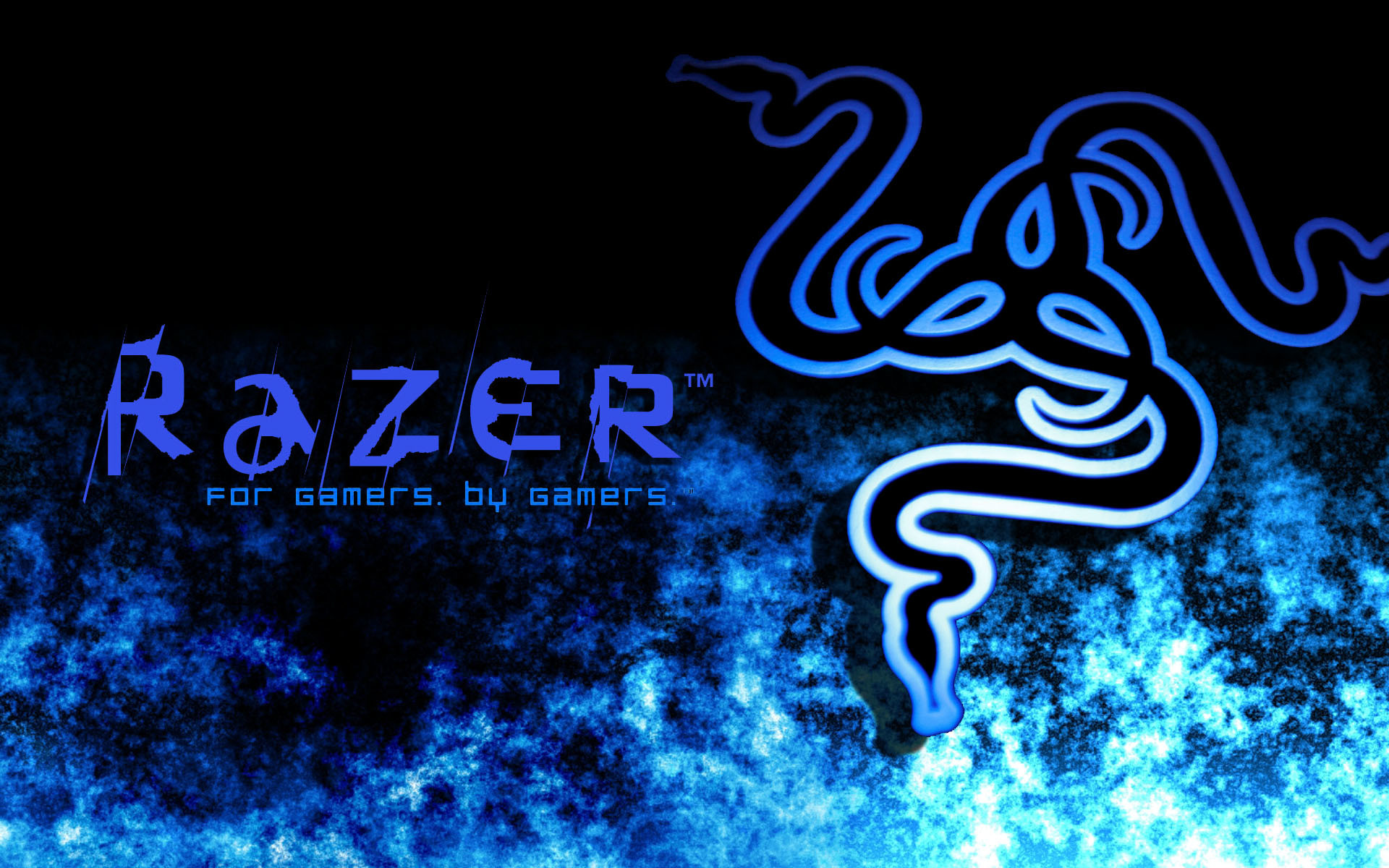 1920x1200 Nice Images Collection: Razer Blue Desktop Wallpapers
