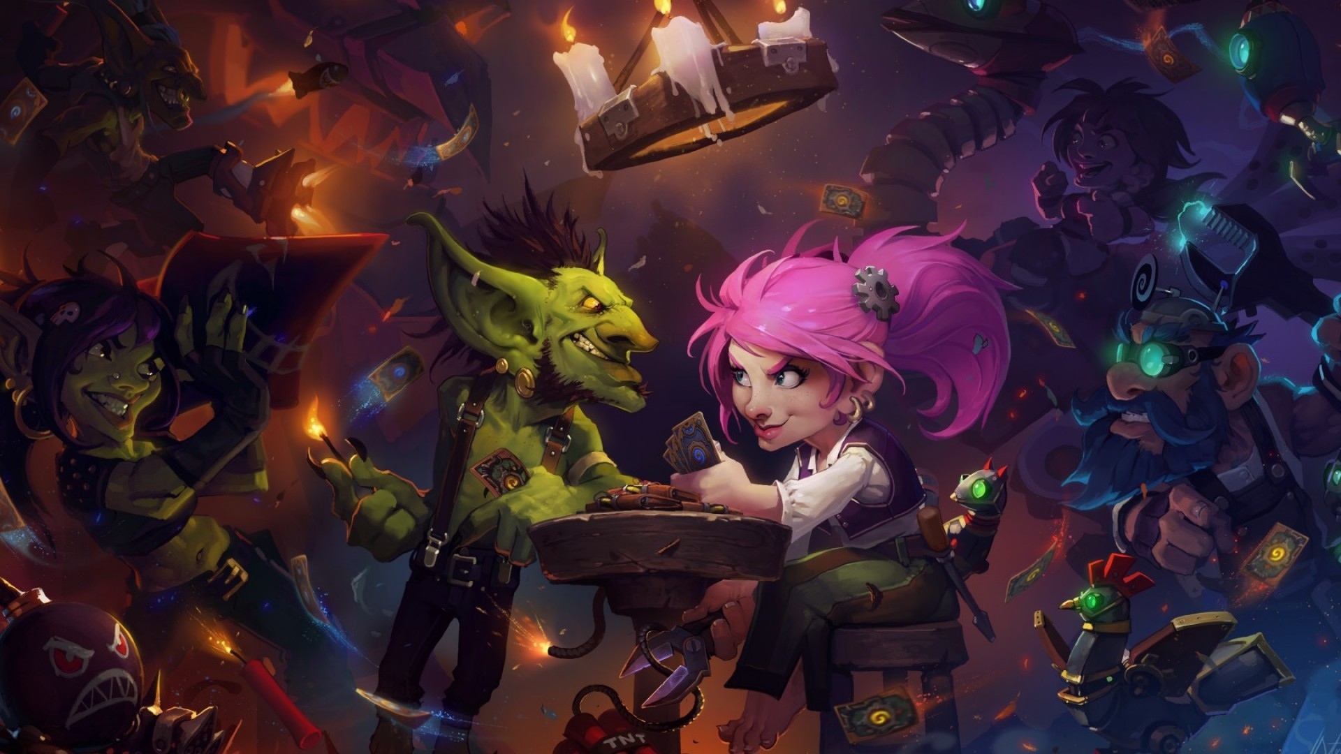 1920x1080 Preview wallpaper hearthstone, hearthstone heroes of warcraft, activision  blizzard, gnomes, goblins,