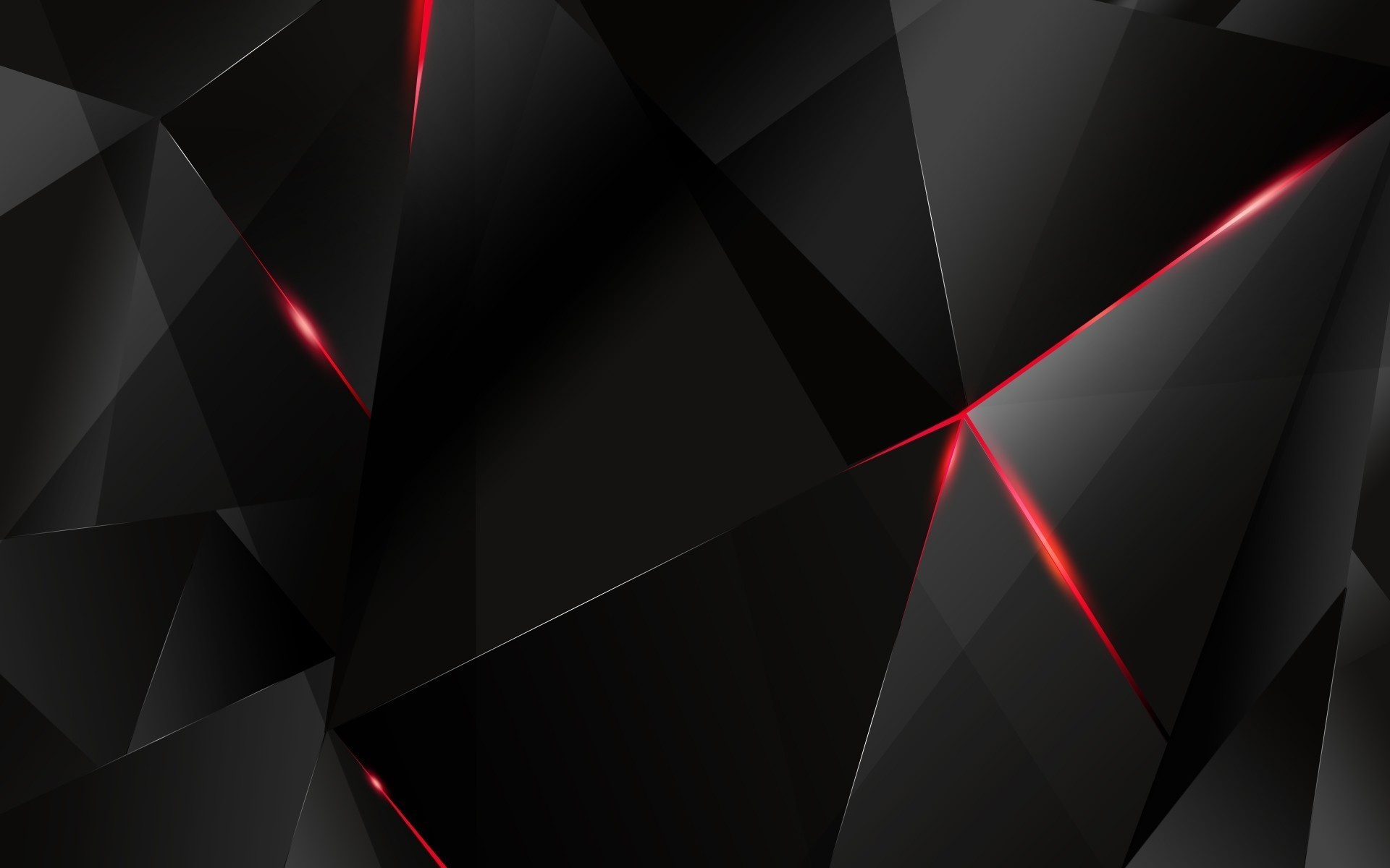 1920x1200 Black polygon with red edges Wallpaper #1202