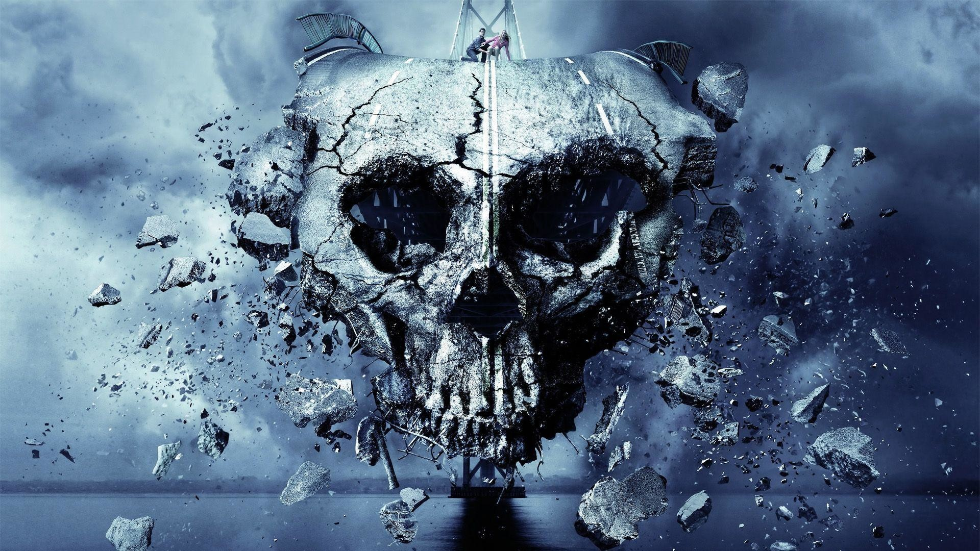 1920x1080 FINAL DESTINATION 5 dark skull skulls horror wallpaper | 1920x1080 .