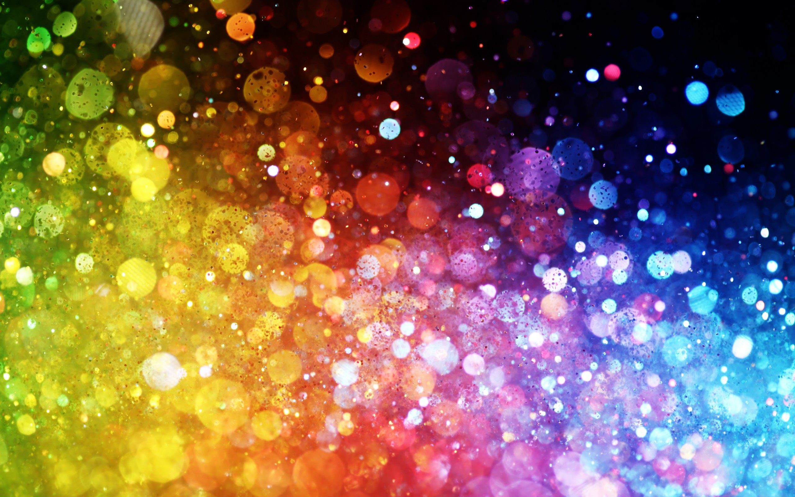 2560x1600 Colours Of Rainbow Dots Abstract Wallpaper